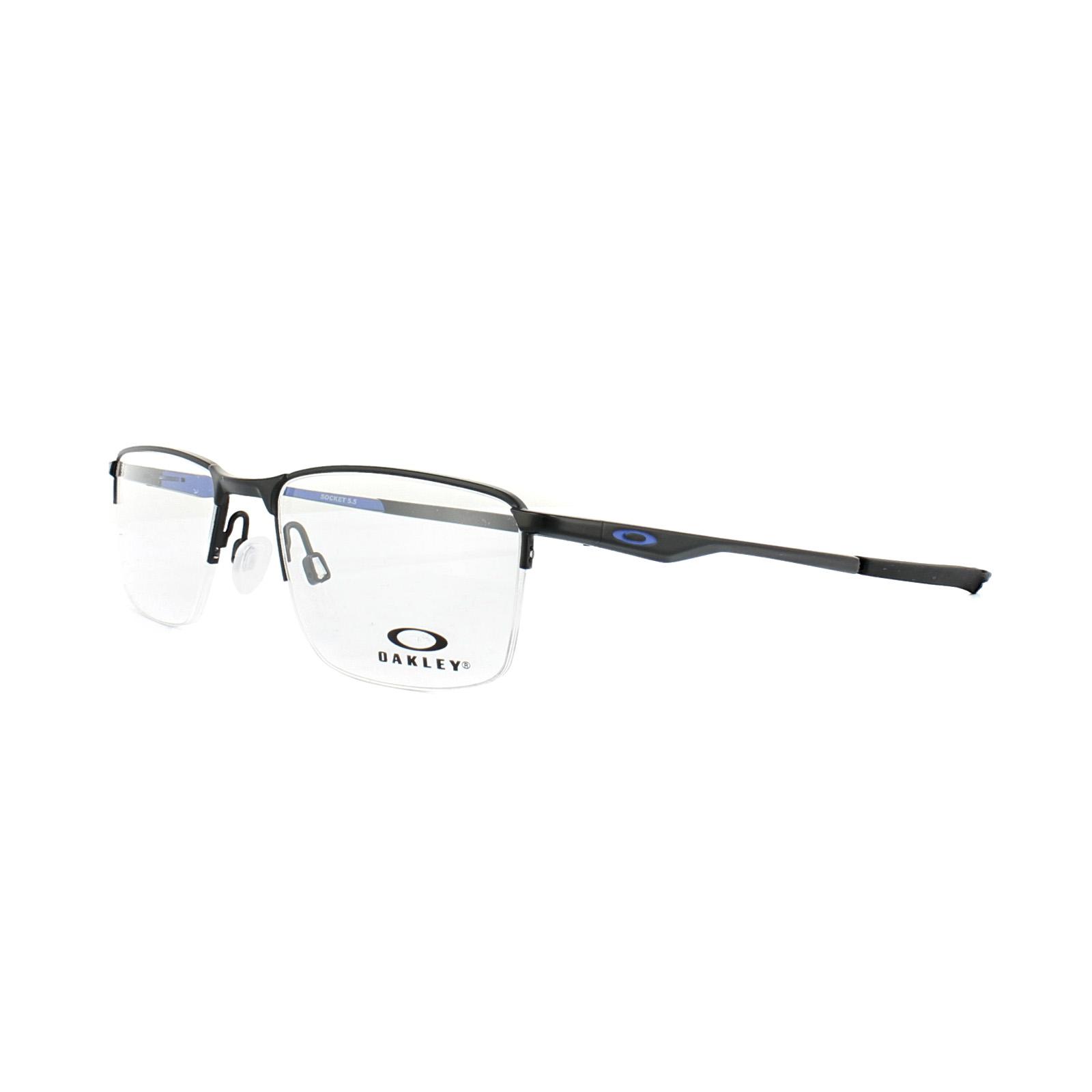 5301e022ea Sentinel Oakley Glasses Frames Socket 5.5 OX3218-04 Satin Black Cobalt Blue