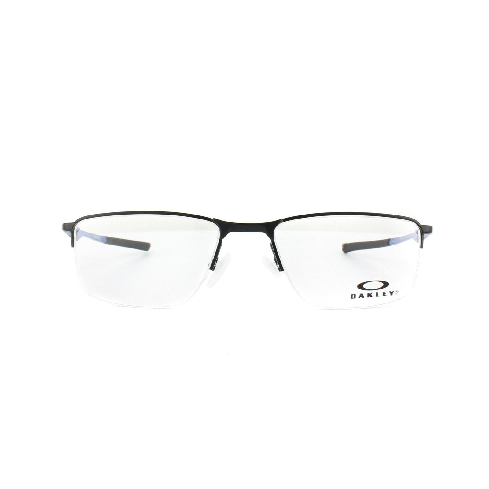 5bff2378ccd Sentinel Oakley Glasses Frames Socket 5.5 OX3218-04 Satin Black Cobalt Blue
