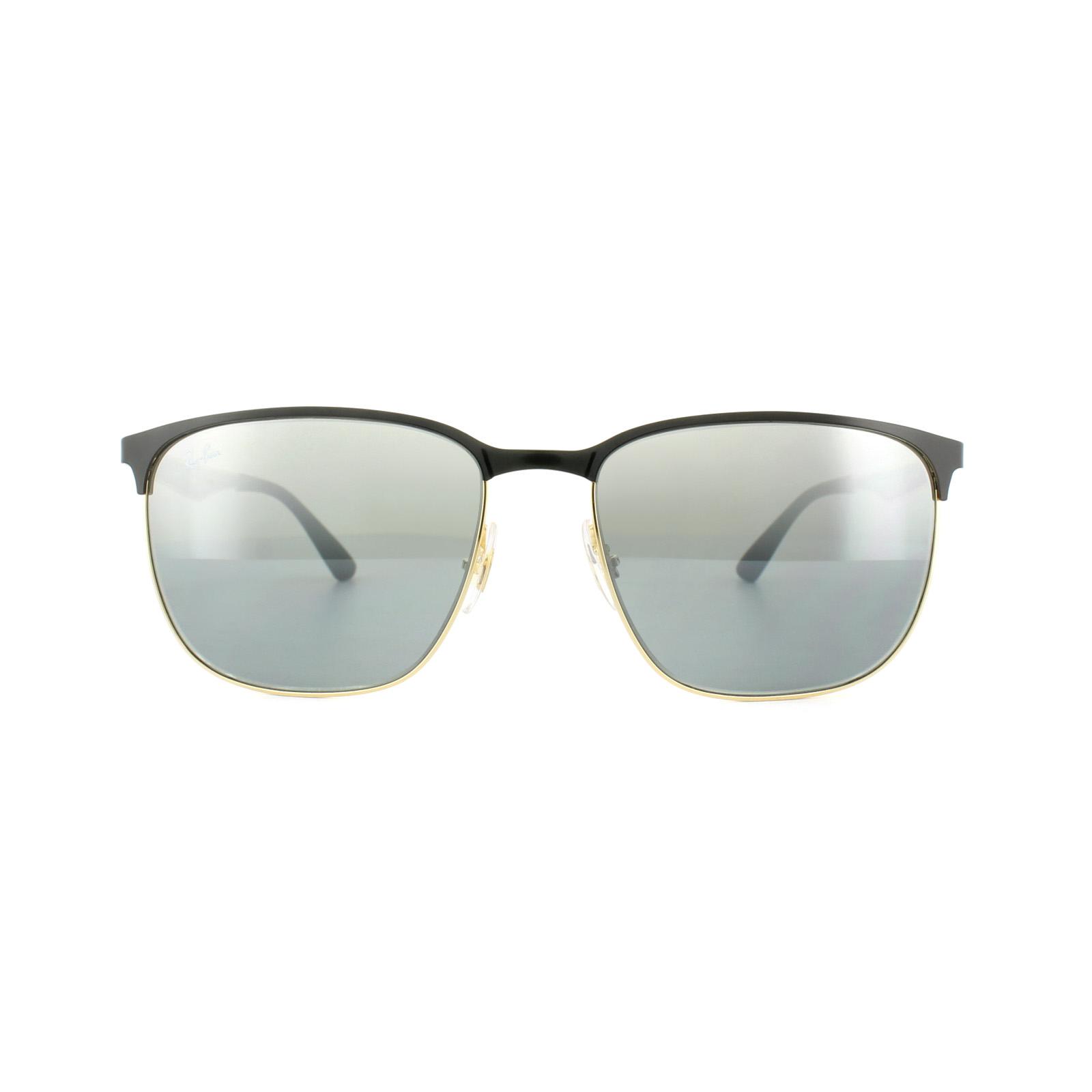 33926c356f3 Sentinel Ray-Ban Sunglasses 3569 187 88 Black Gold Grey Gradient Mirror