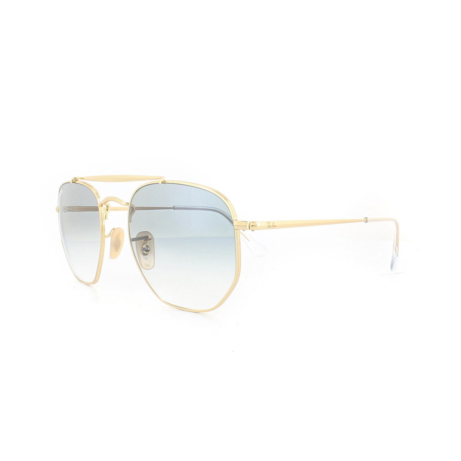 7e0aee0a6ab69 Sentinel Ray-Ban Sunglasses Marshal 3648 001 3F Gold Light Blue Gradient