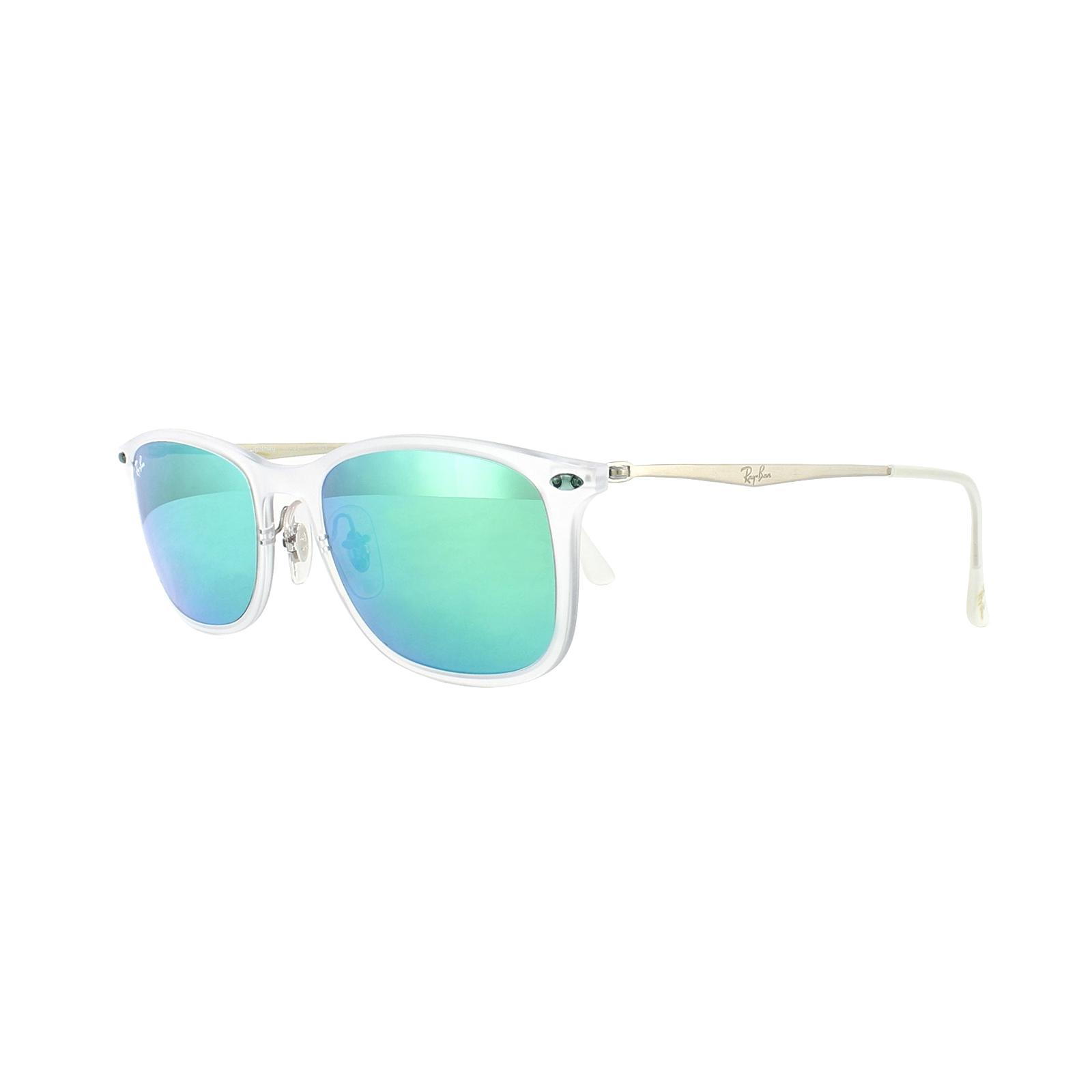 d44ce07f9fa9a Sentinel Ray-Ban Sunglasses New Wayfarer Light Ray 4225 646 3R Transparent  Green Mirror