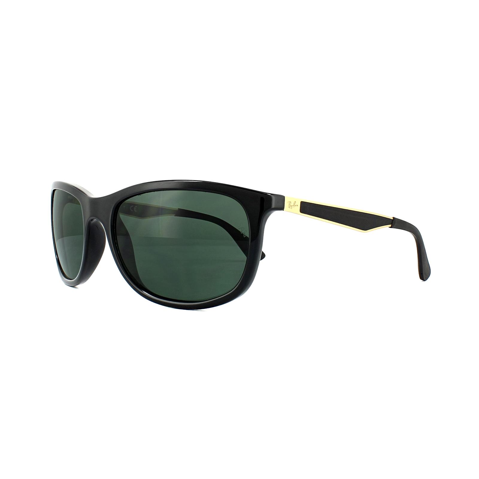 a635d56ce77 Ray-Ban Sunglasses 4267 622771 Black Gold Green G-15 8053672671339 ...