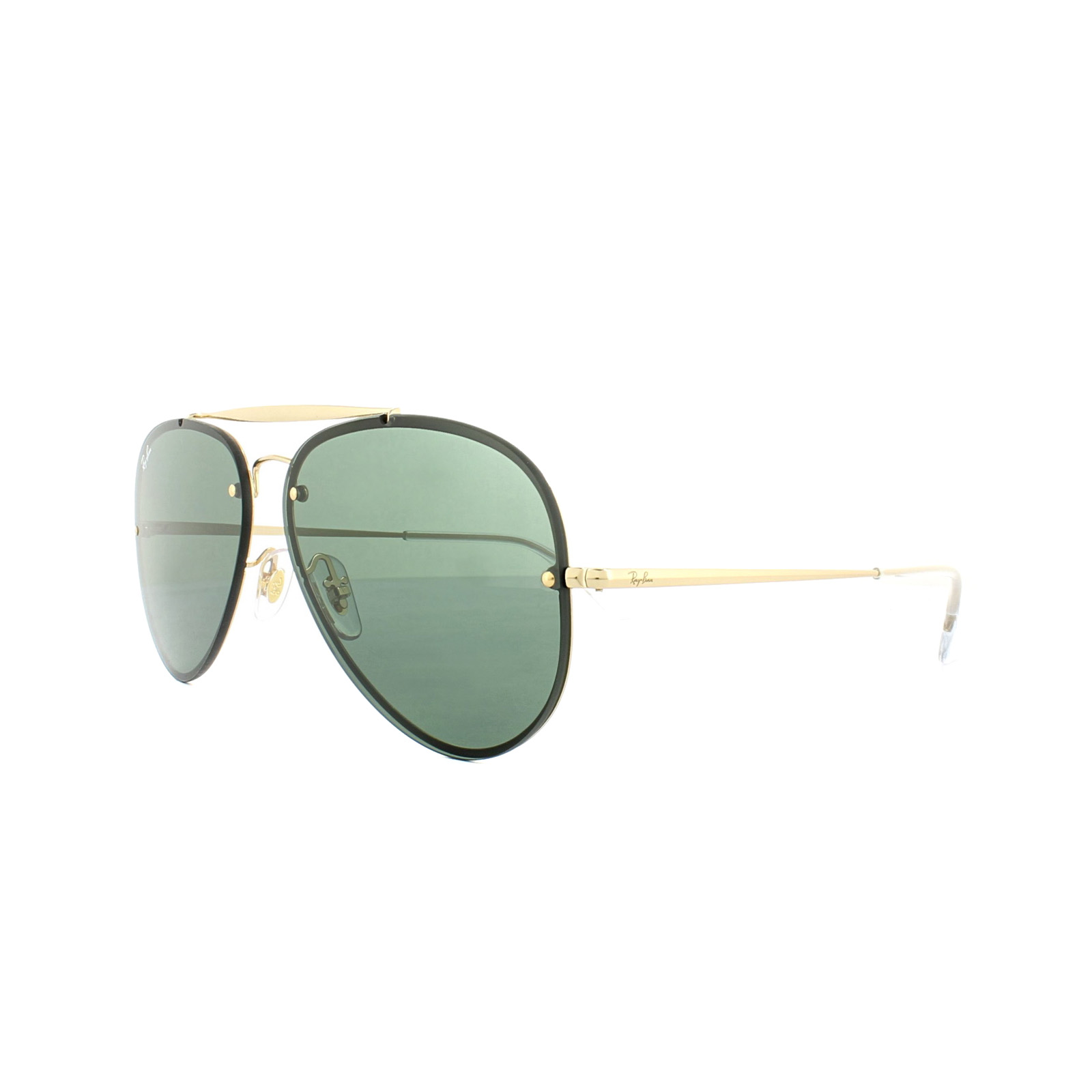 380c7c07402 Sentinel Ray-Ban Sunglasses Blaze Aviator 3584N 905071 Gold Green G-15