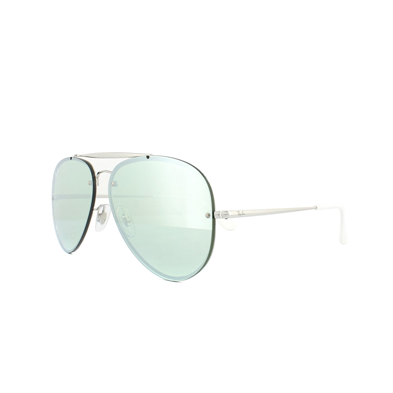 83b712827e Details about Ray-Ban Sunglasses Blaze Aviator 3584N 905130 Silver Dark Green  Silver Mirror