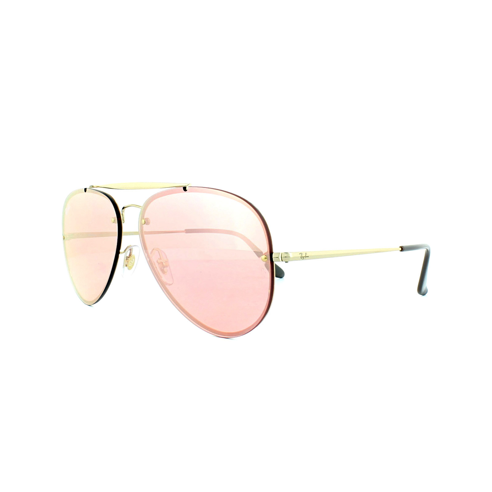 a0371413f1 Sentinel Ray-Ban Sunglasses Blaze Aviator 3584N 9052E4 Gold Pink Mirror