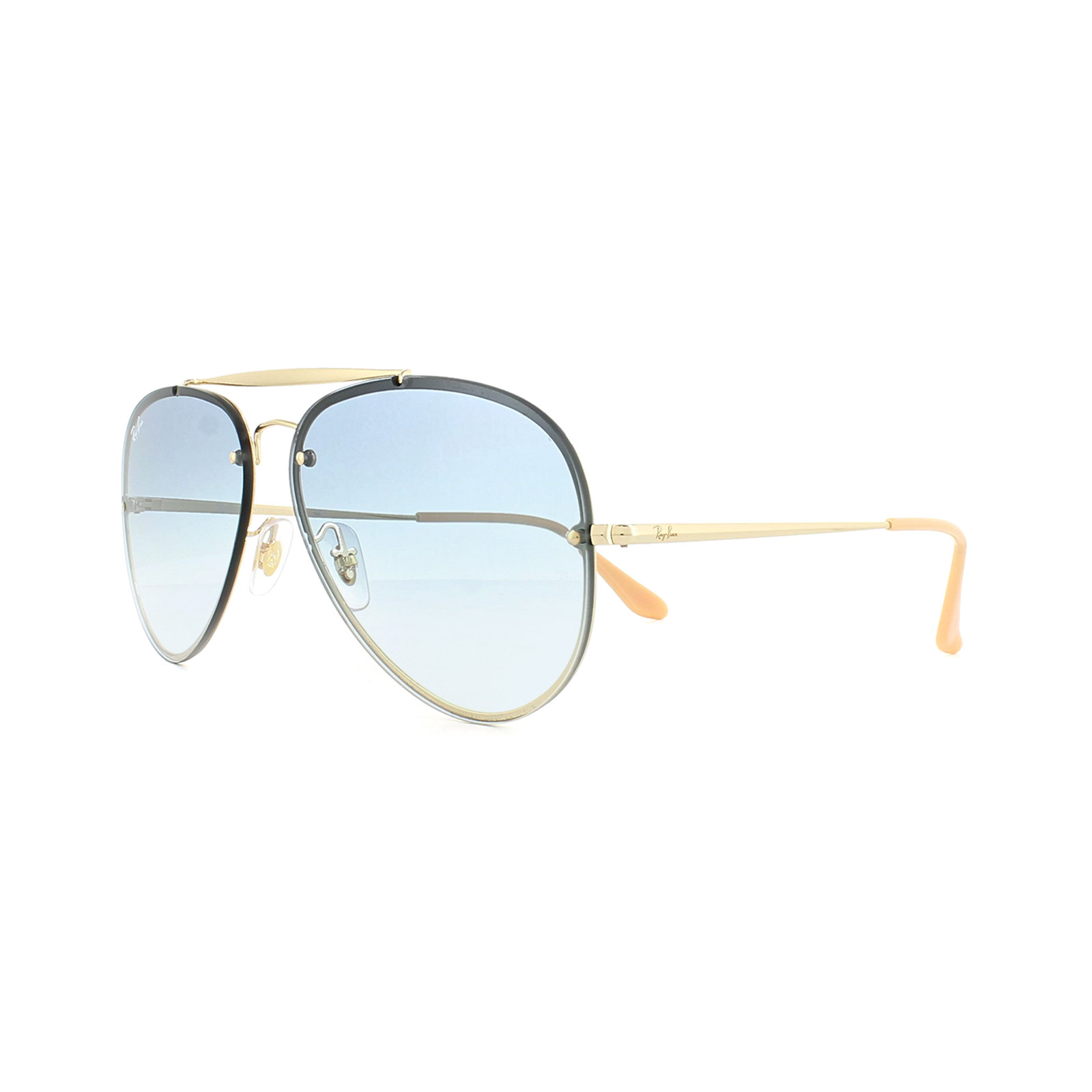 Sentinel Ray-Ban Sunglasses Blaze Aviator 3584N 001 19 Gold Light Blue  Gradient 92be59b293635