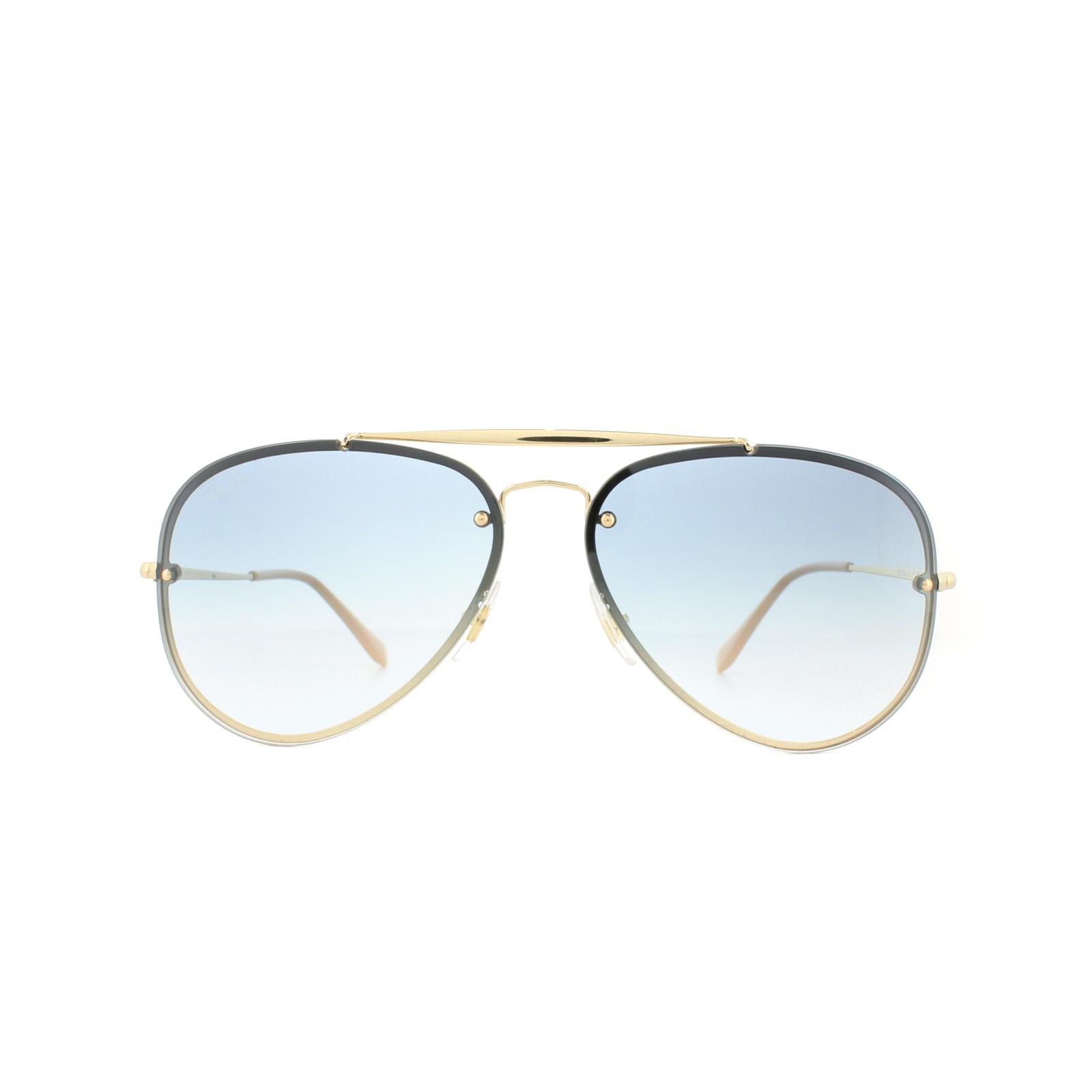 97972a158 Sentinel Ray-Ban Sunglasses Blaze Aviator 3584N 001/19 Gold Light Blue  Gradient