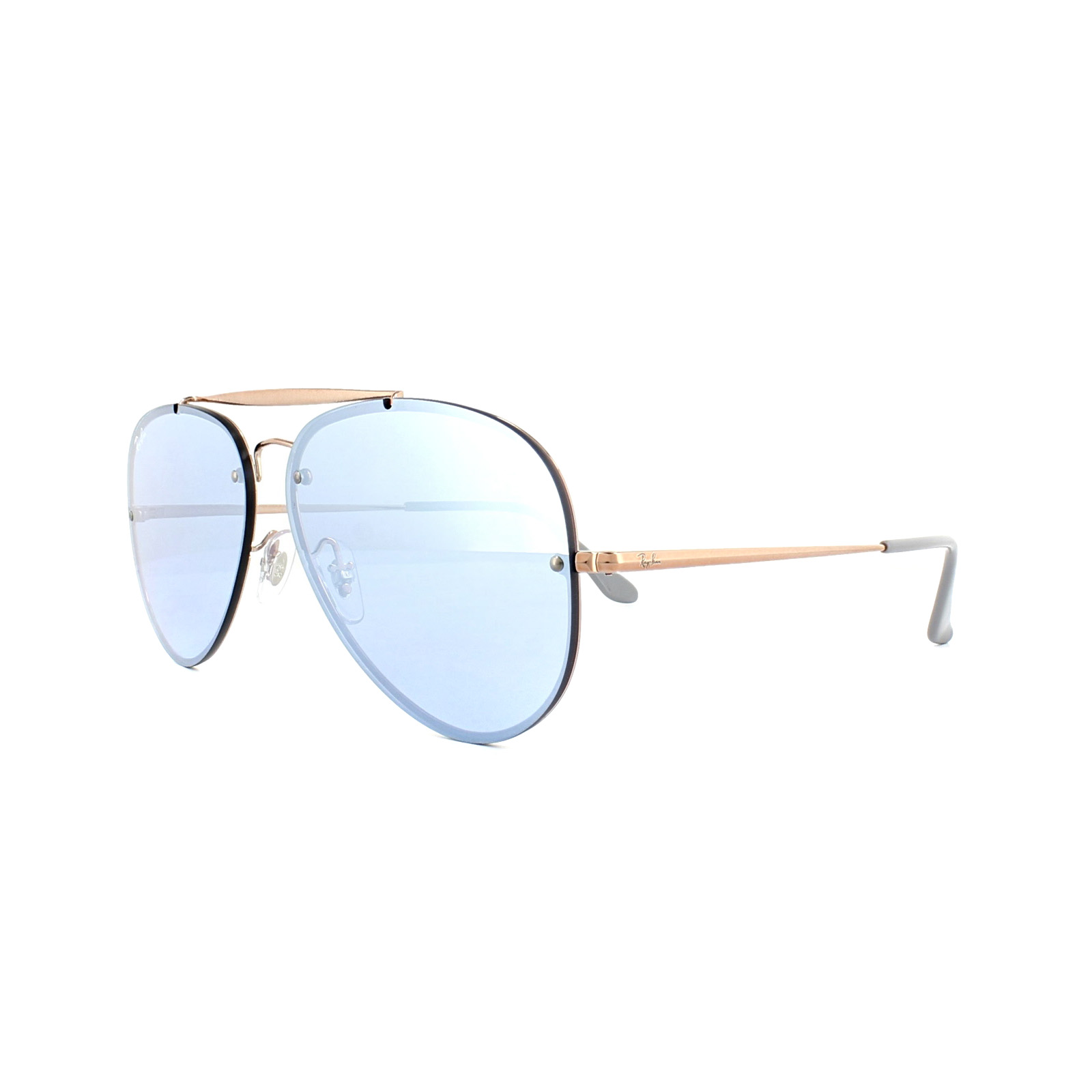 706ad03ab4 Sentinel Ray-Ban Sunglasses Blaze Aviator 3584N 90531U Bronze Copper Violet  Mirror