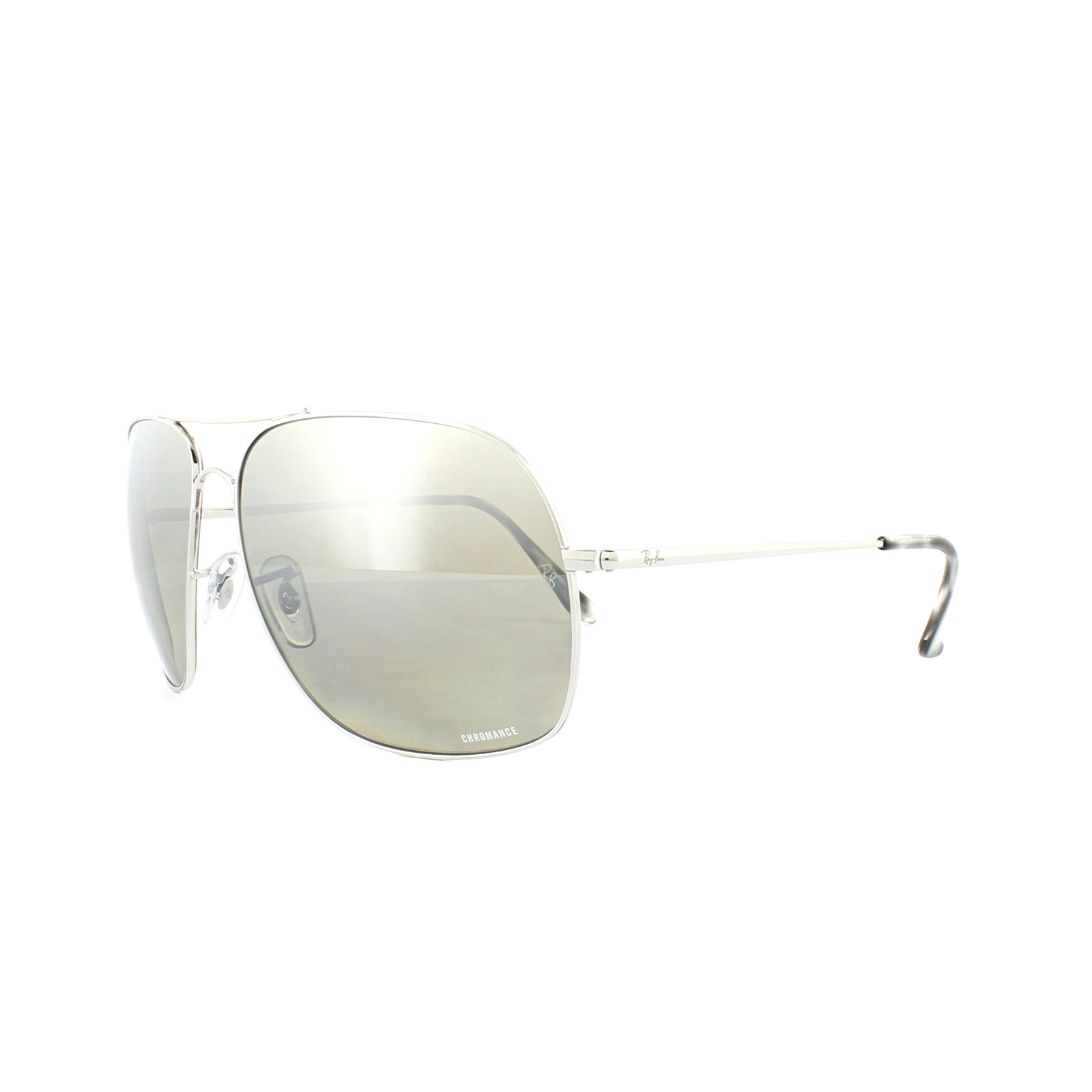 65e59fe320 Details about Ray-Ban Sunglasses 3587CH 003 5J Silver Polarized Silver  Mirror Chromance