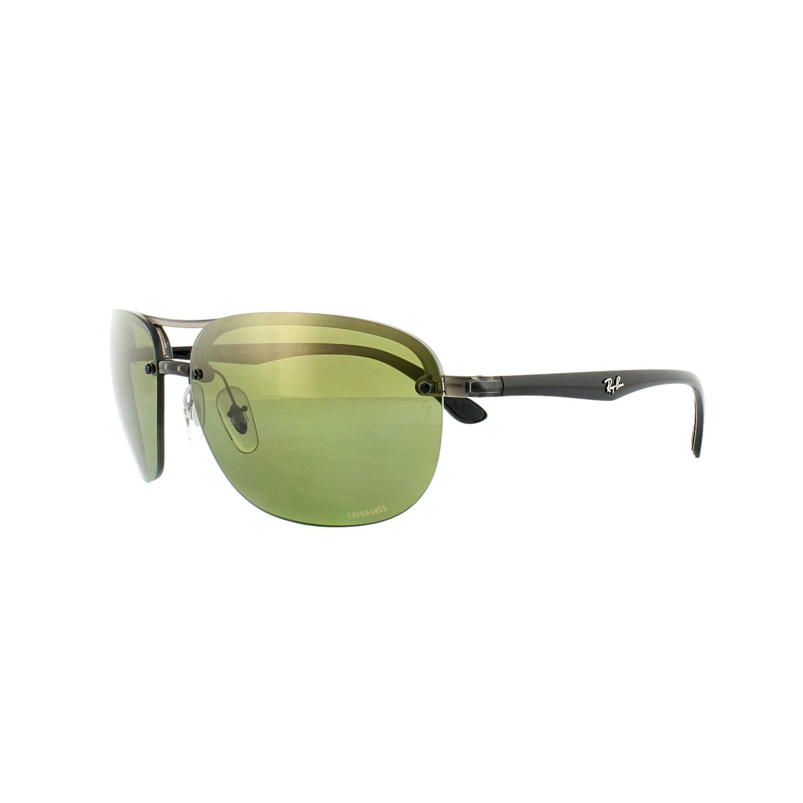 d3442811b8 Sentinel Ray-Ban Sunglasses 4275CH 876 6O Grey Black Polarized Green Mirror  Chromance