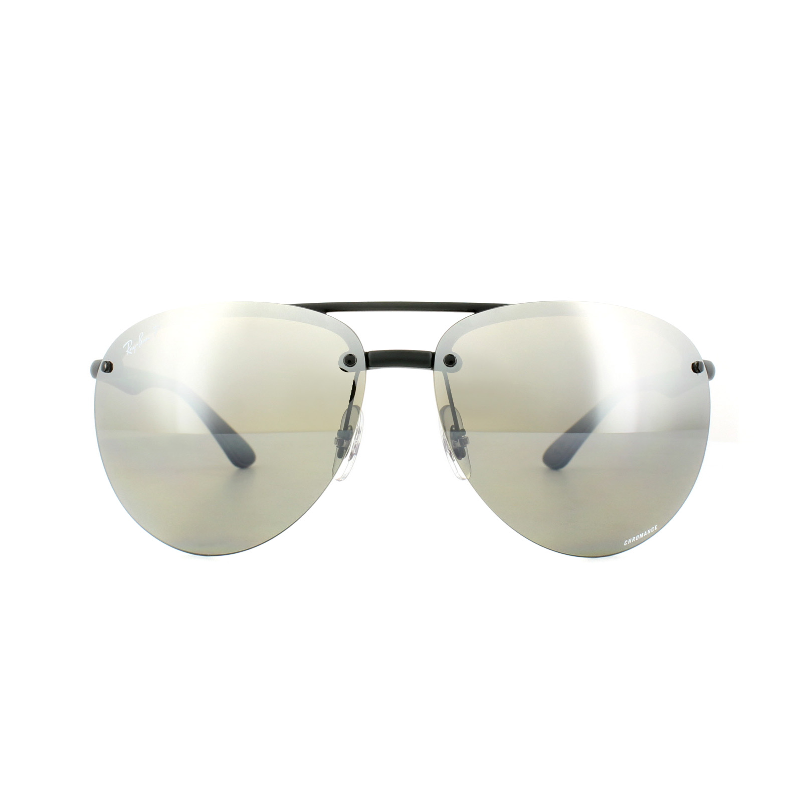 e6aa69723e4 Sentinel Ray-Ban Sunglasses 4293CH 601S5J Black Polarized Silver Mirror  Chromance