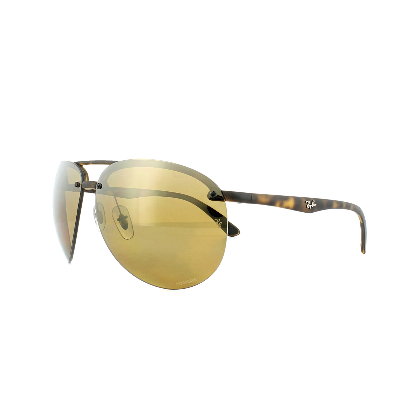 49a368f490 Details about Ray-Ban Sunglasses 4293CH 894 A3 Tortoise Polarized Bronze  Mirror Chromance