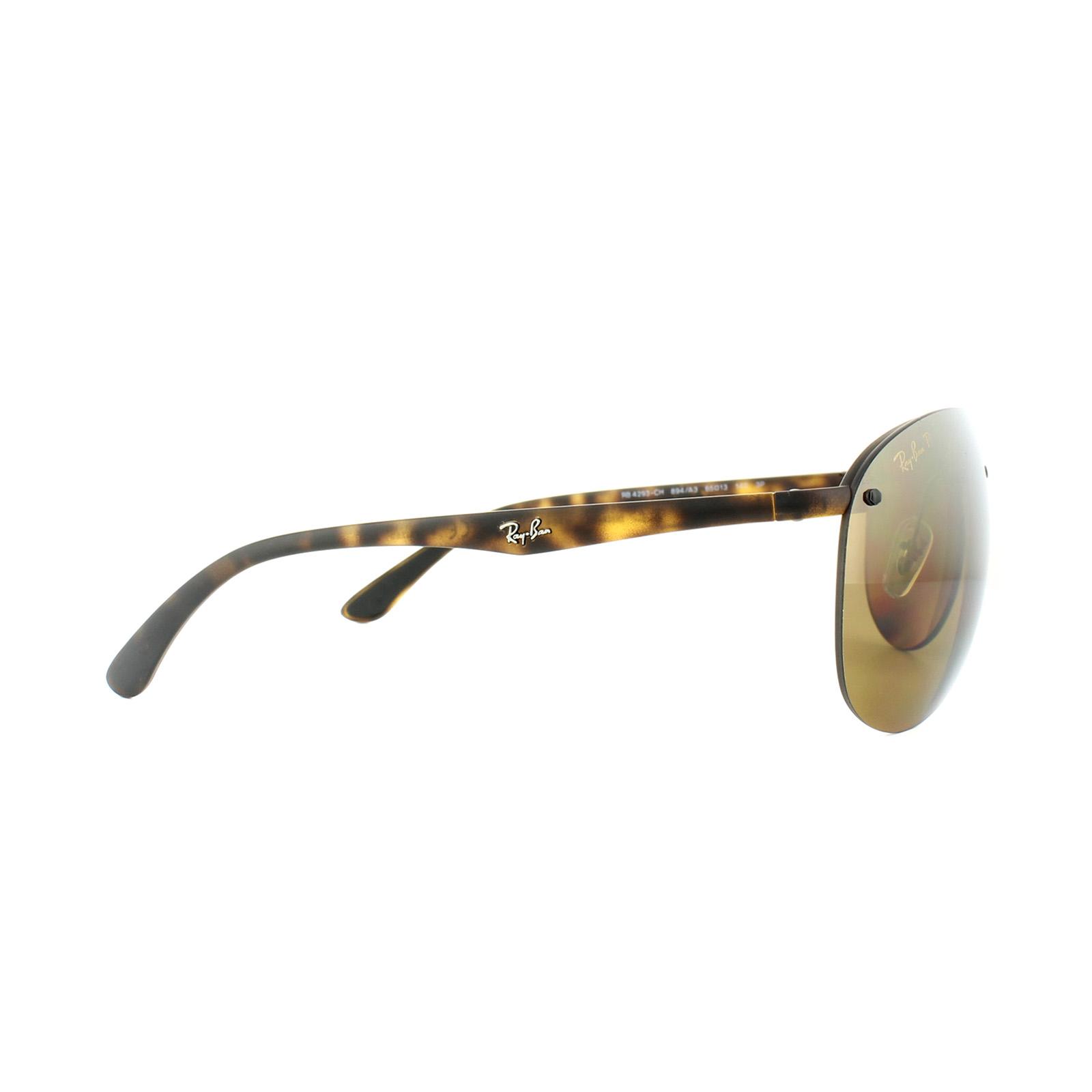 ad242bc2aff4e CENTINELA Ray-Ban gafas de sol 4293CH 894 A3 tortuga polarizado espejo de  bronce Chromance