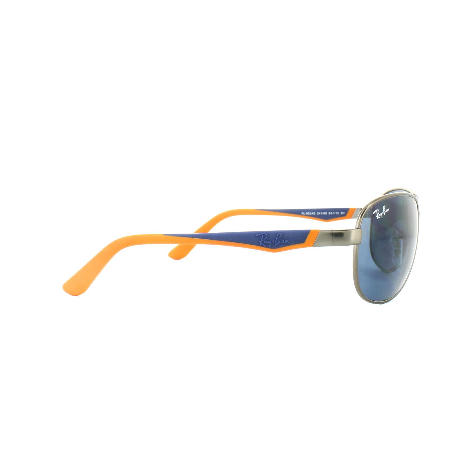 7e37838e530 Sentinel Ray-Ban Junior Sunglasses 9534S 241 80 Gunmetal Blue Orange Blue