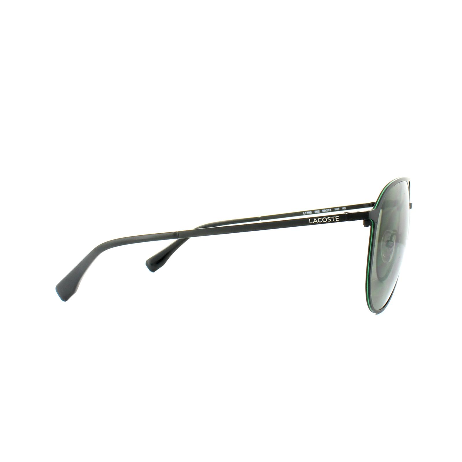 93b13b3b03e6 Lacoste Sunglasses L179S 002 Matt Black Green 886895278300