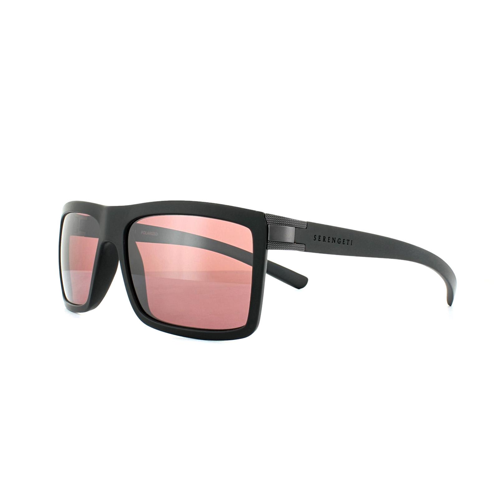 b1cc98893d Sentinel Serengeti Sunglasses Brera 8213 Sanded Black Sedona Pink Polarized