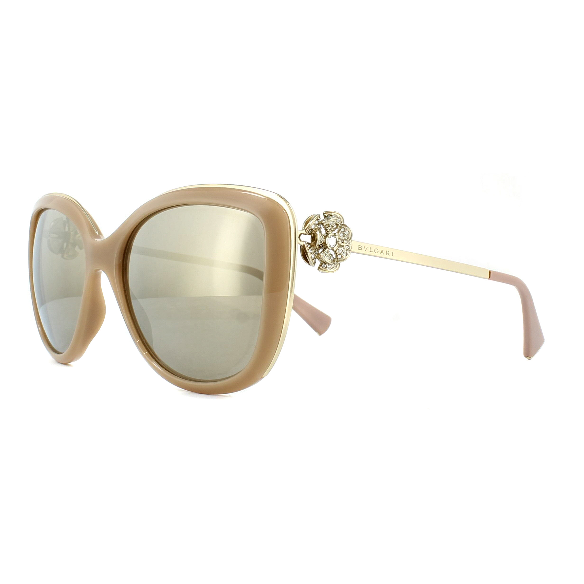 9e52b96aabf409 Bvlgari Sunglasses 6094B 278 5A Gold and Beige Light Brown Gold ...