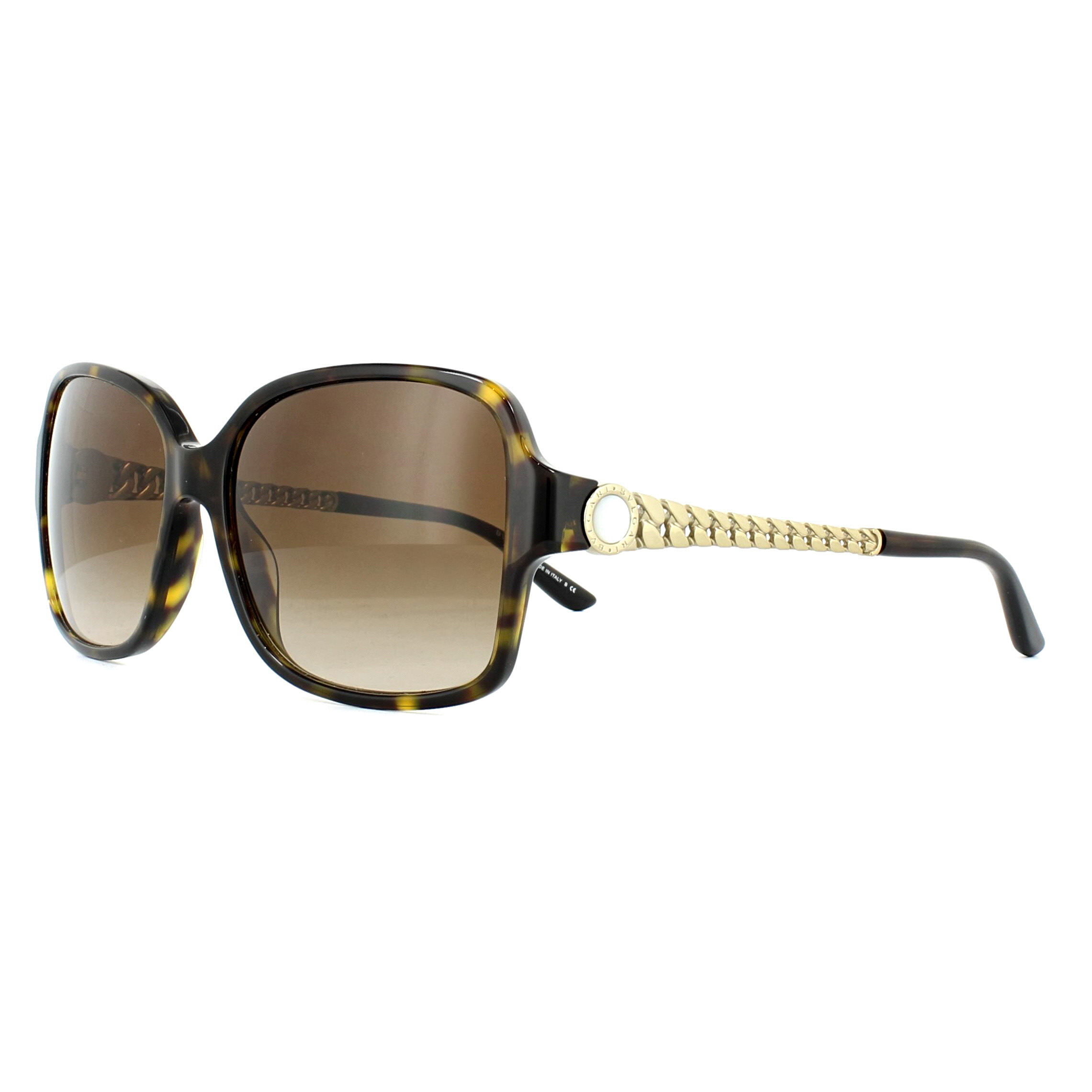 2614bb2ecc0 Sentinel Bvlgari Sunglasses 8125H 504 13 Havana Gold Brown Gradient