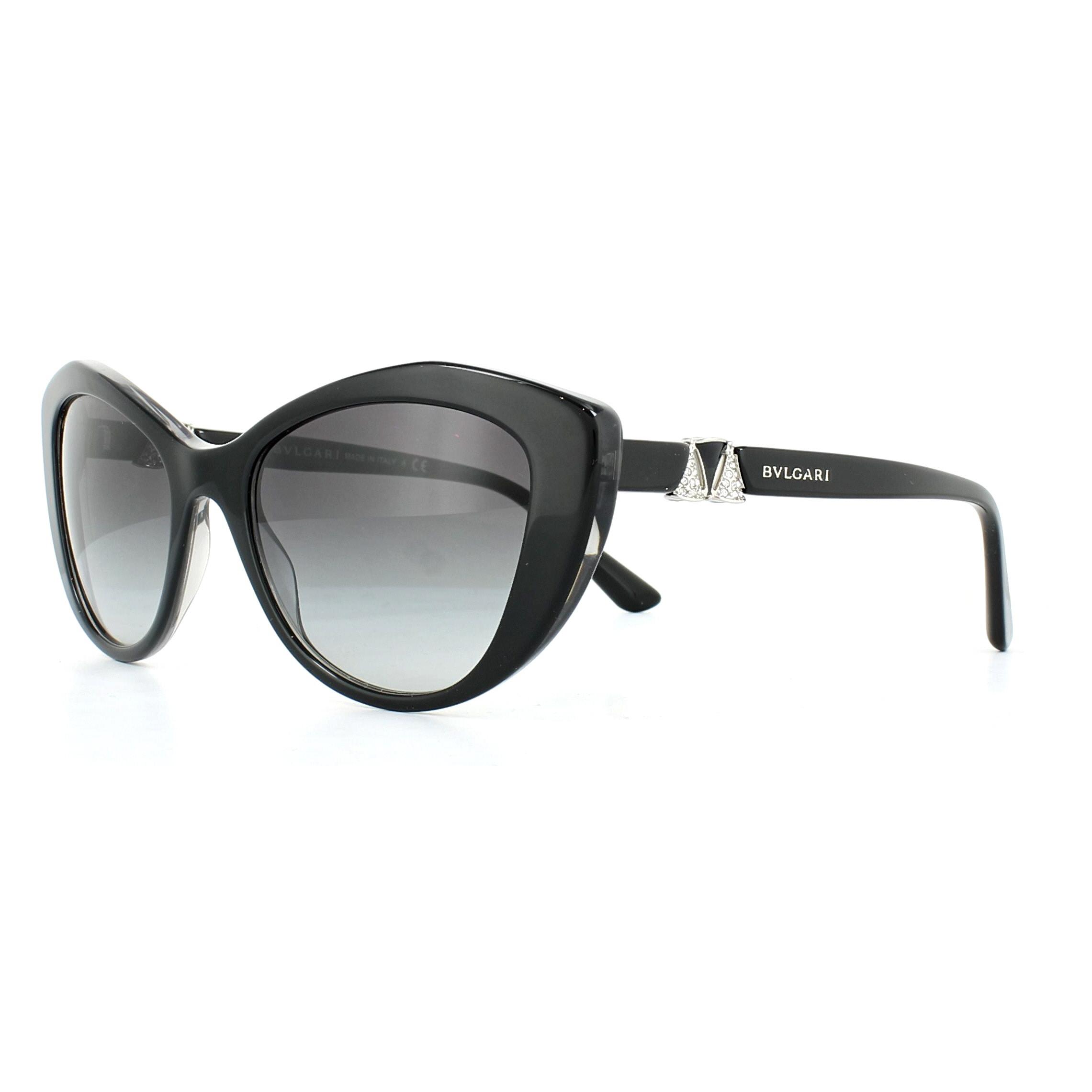 09bdb2fb778 Sentinel Bvlgari Sunglasses 8168B 53818G Top Black on Grey Crystal Grey  Gradient
