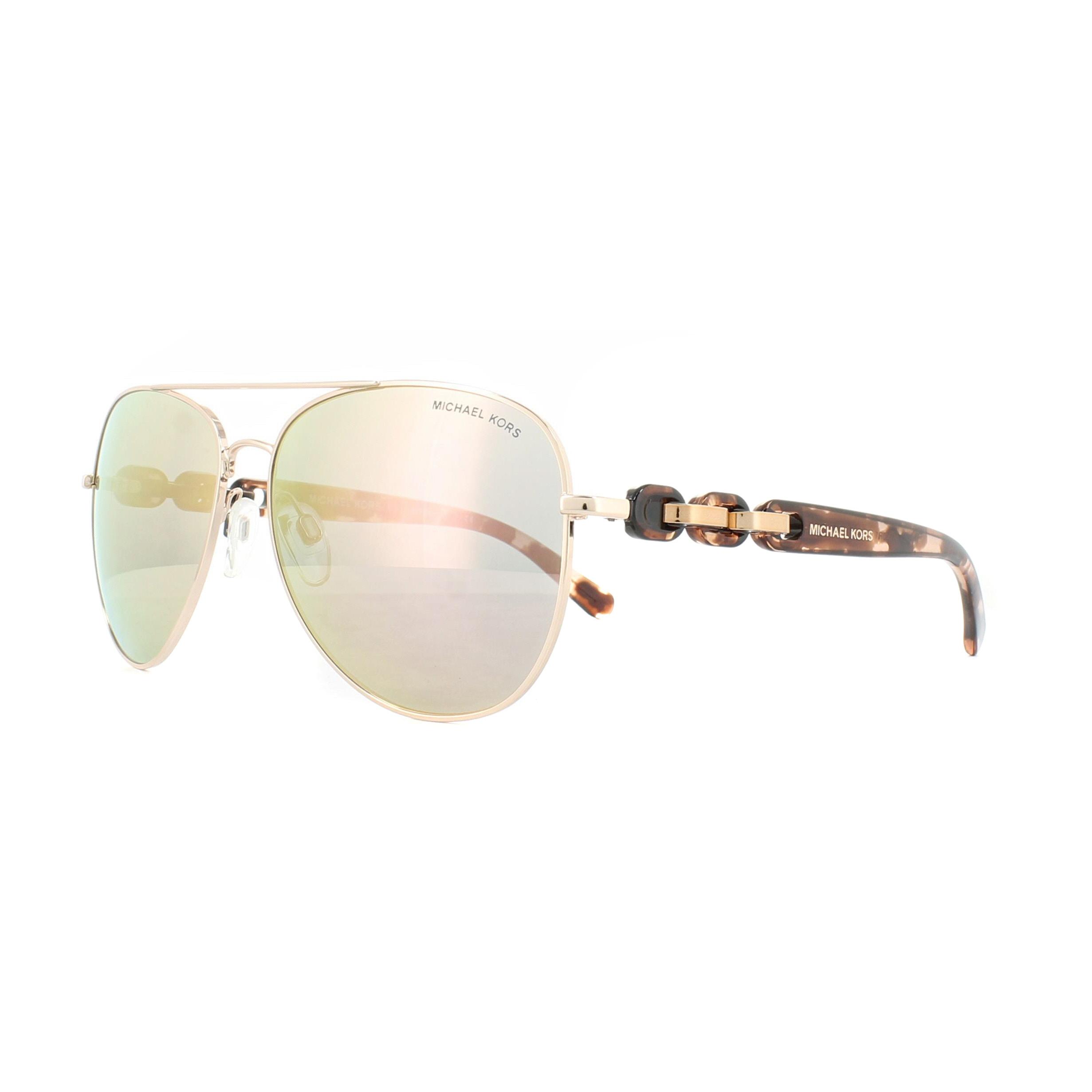 Sentinel Michael Kors Sunglasses Pandora 1015 1130R1 Rose Gold Rose Gold  Mirror b4b1c79cbc