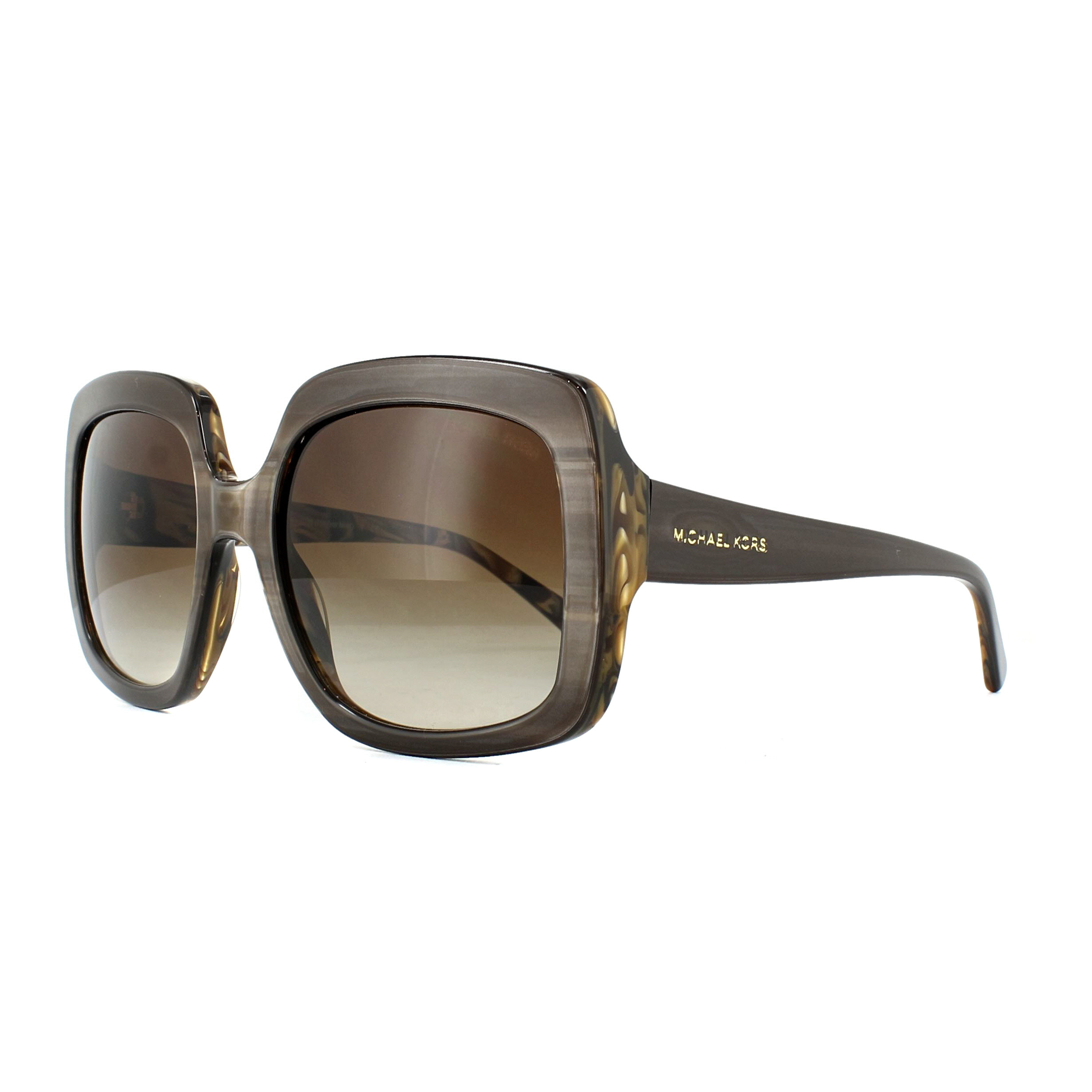 22a1ae1a02 Sentinel Michael Kors Sunglasses Harbor Mist 2036 321213 Bronze Horn Smoke  Gradient