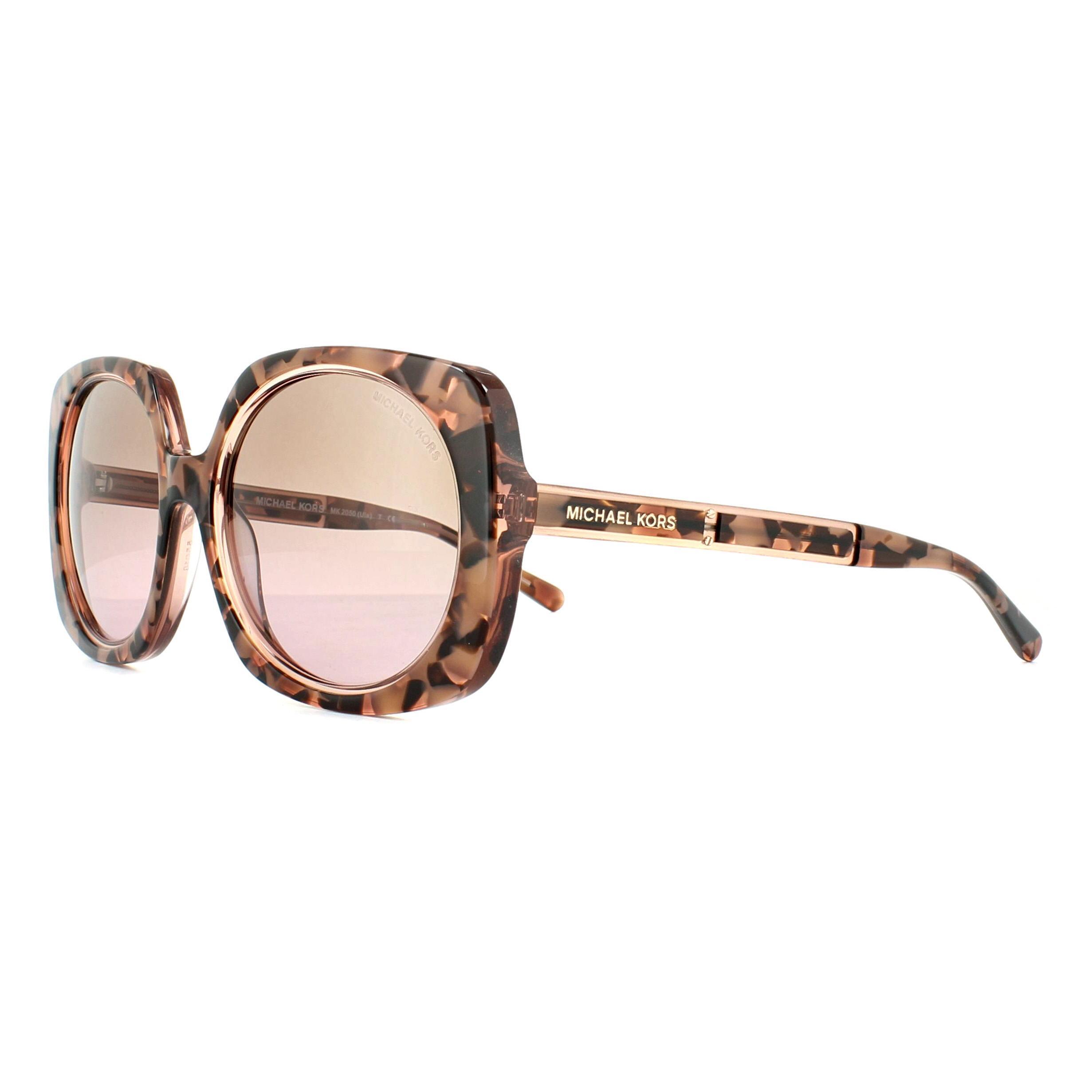 8e78e056dd Sentinel Michael Kors Sunglasses Ula 2050 325114 Pink Tortoise Graphic  Brown Rose Shaded
