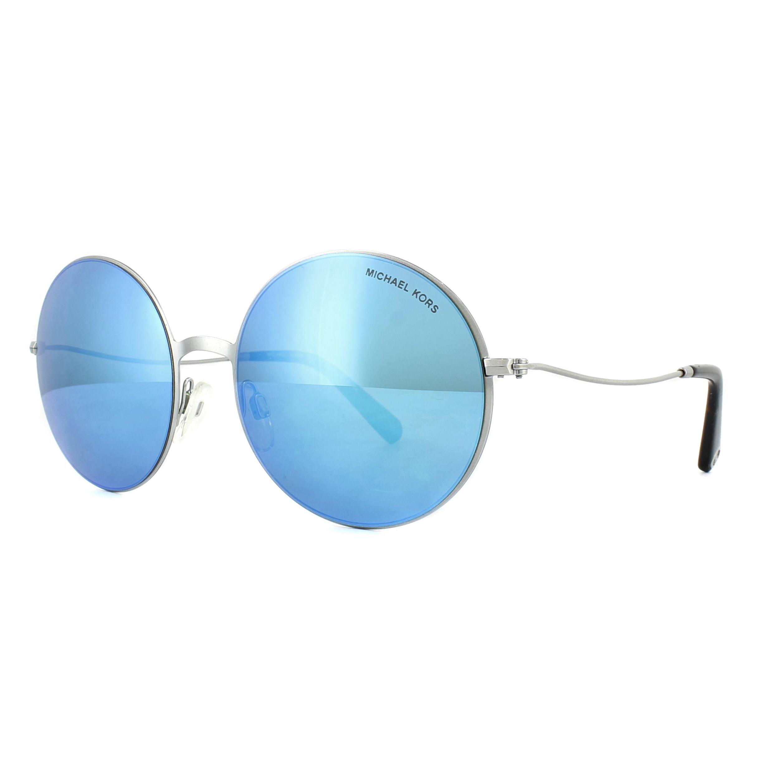 2afeada7cbcf0 Sentinel Michael Kors Sunglasses Kendall II 5017 100125 Silver Teal Mirror