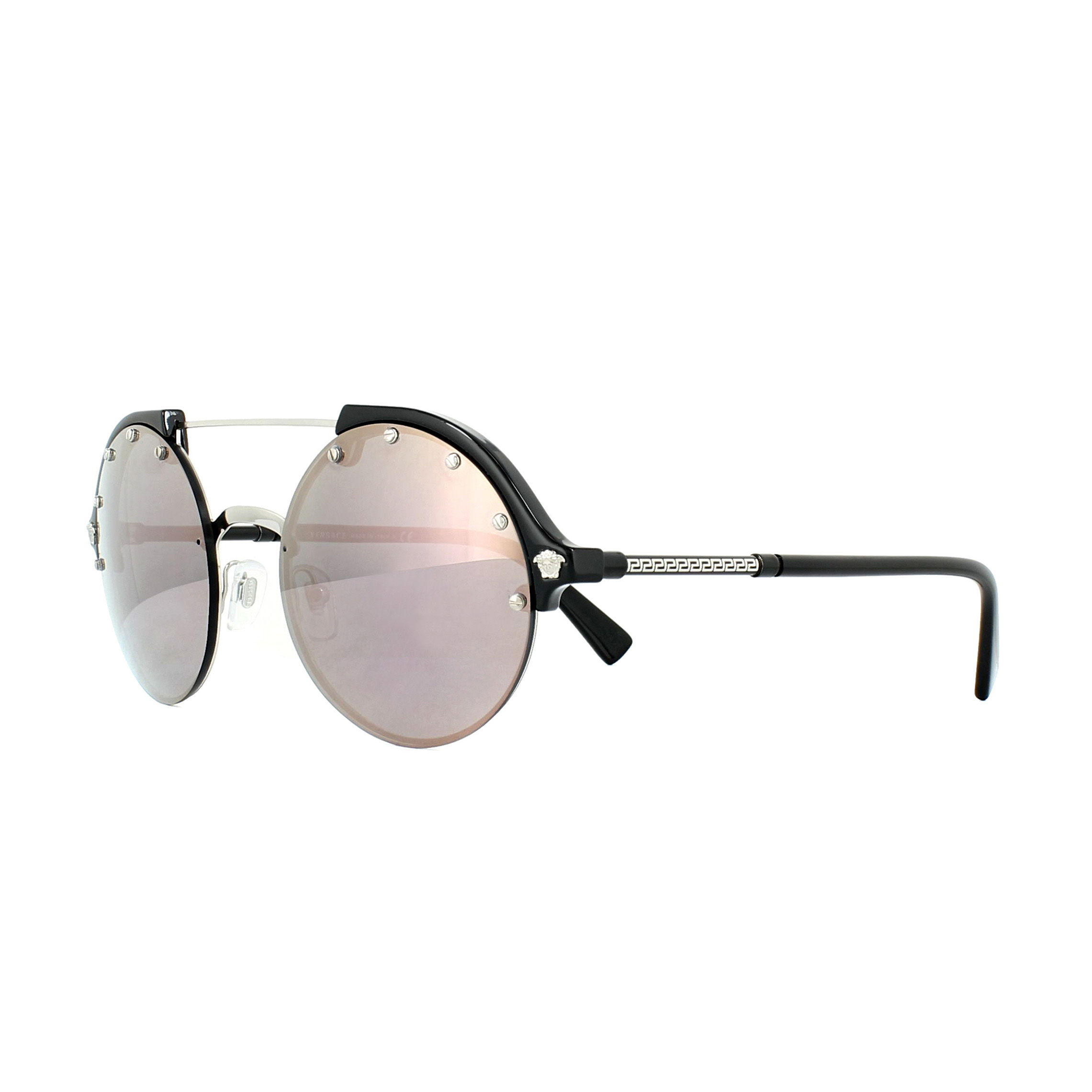 0636653f1a930 Sentinel Versace Sunglasses 4337 GB1 5R Silver and Black Dark Grey Pink  Mirror