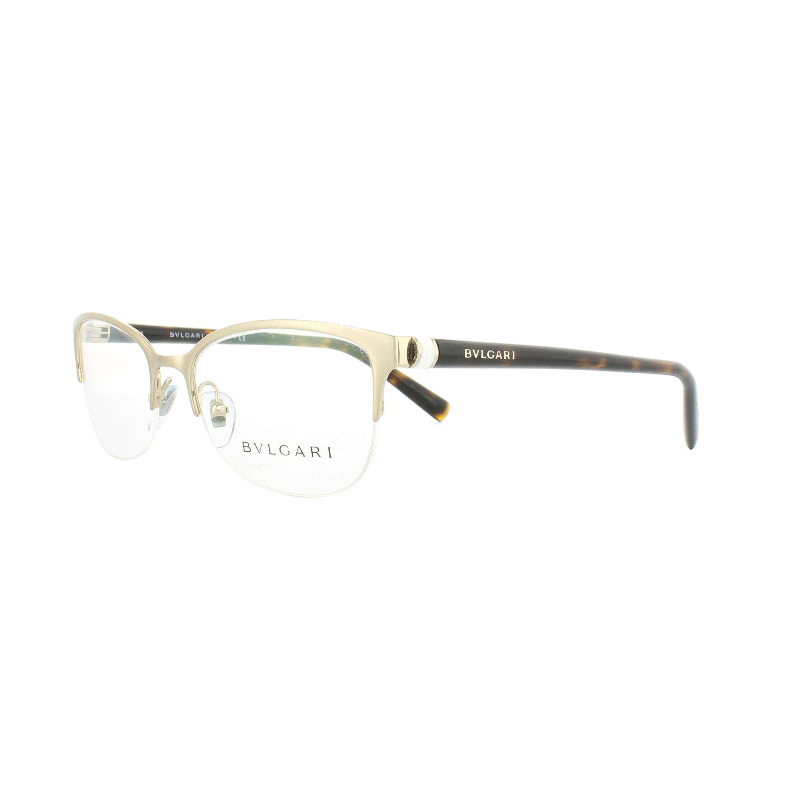 Bvlgari Glasses Frames 2189 2015 Brushed Pale Gold 51mm Womens ...