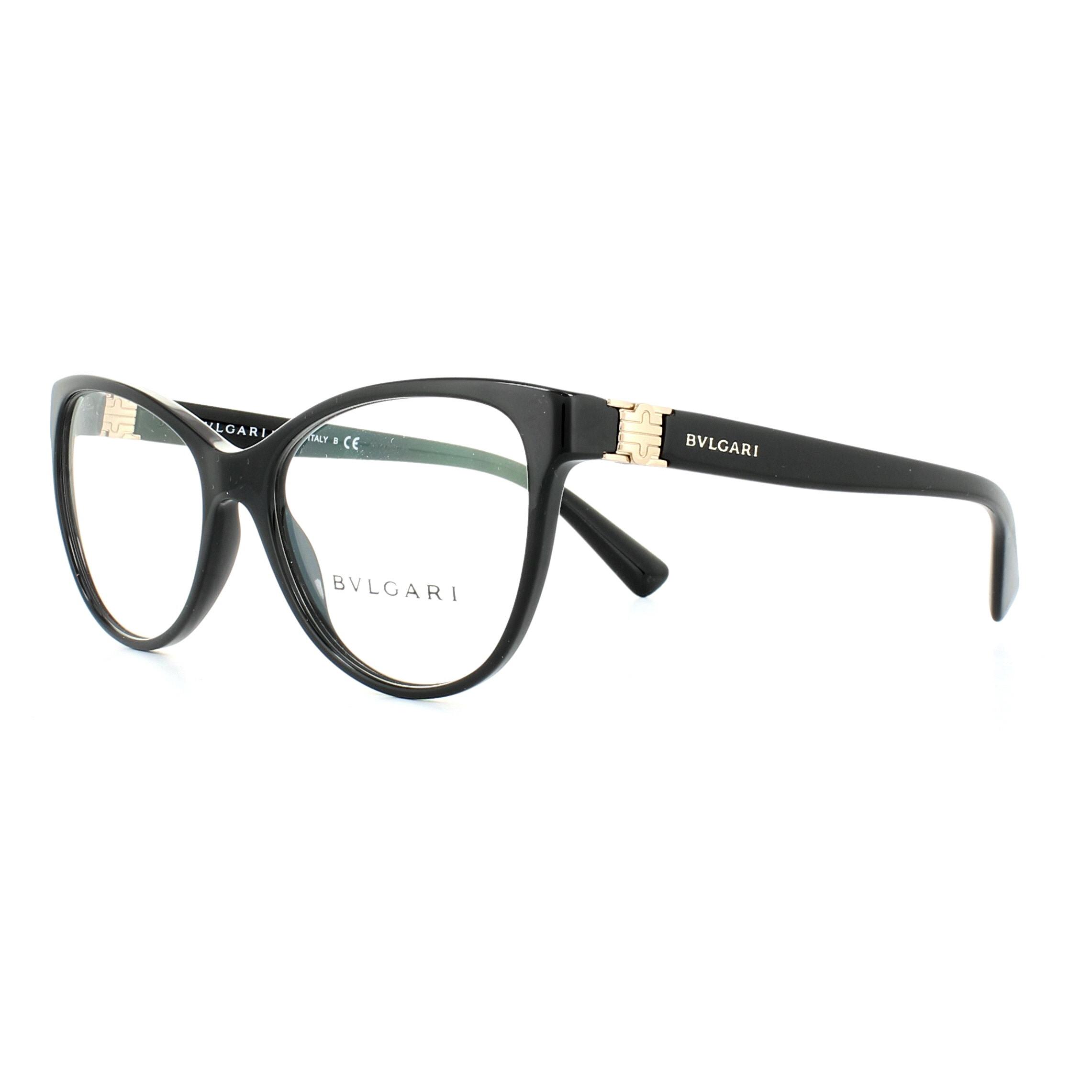 7a2fa18f5a Bvlgari Glasses Frames 4151 501 Black 52mm Womens 8053672811742