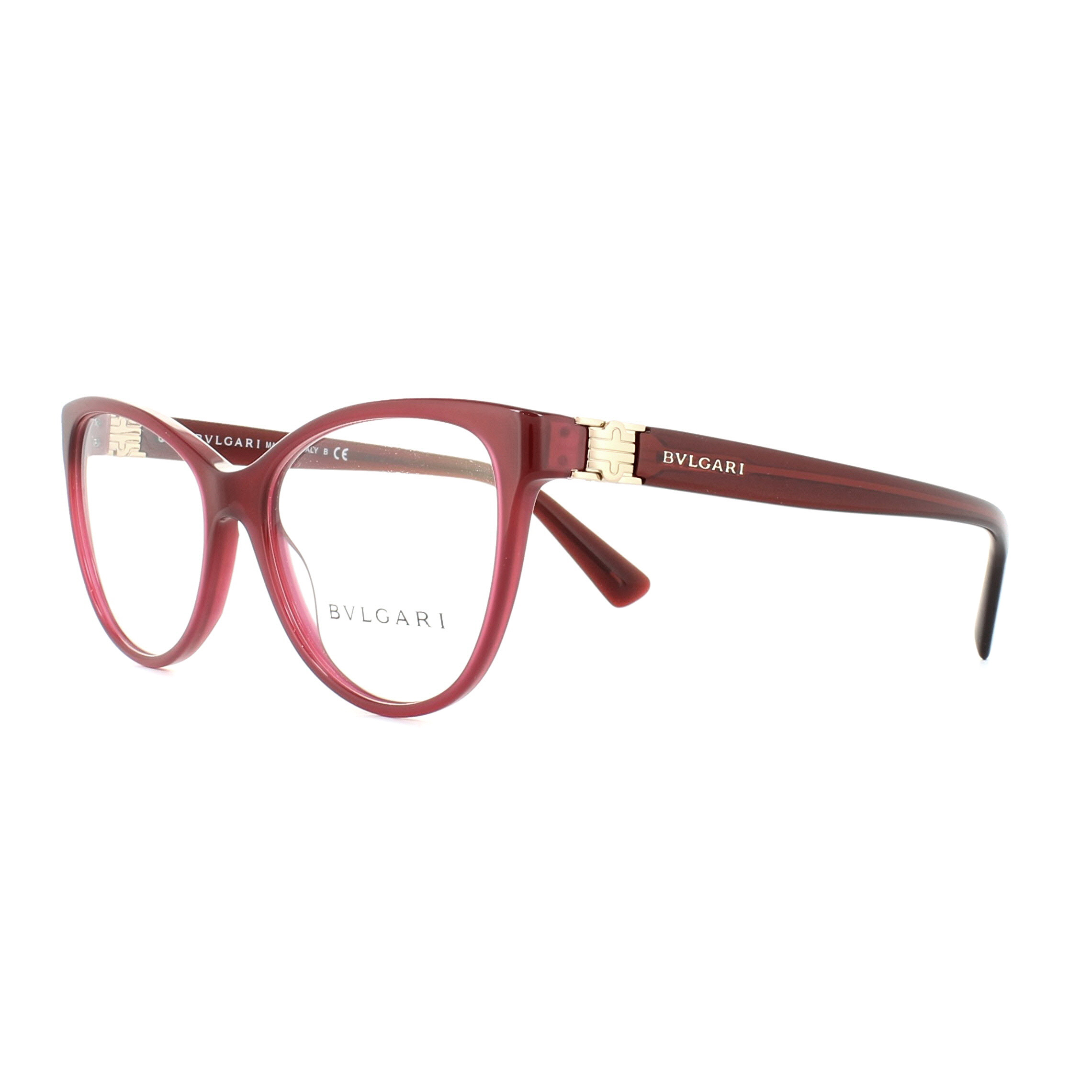 Bvlgari Glasses Frames 4151 5333 Transparent Red 52mm Womens ...