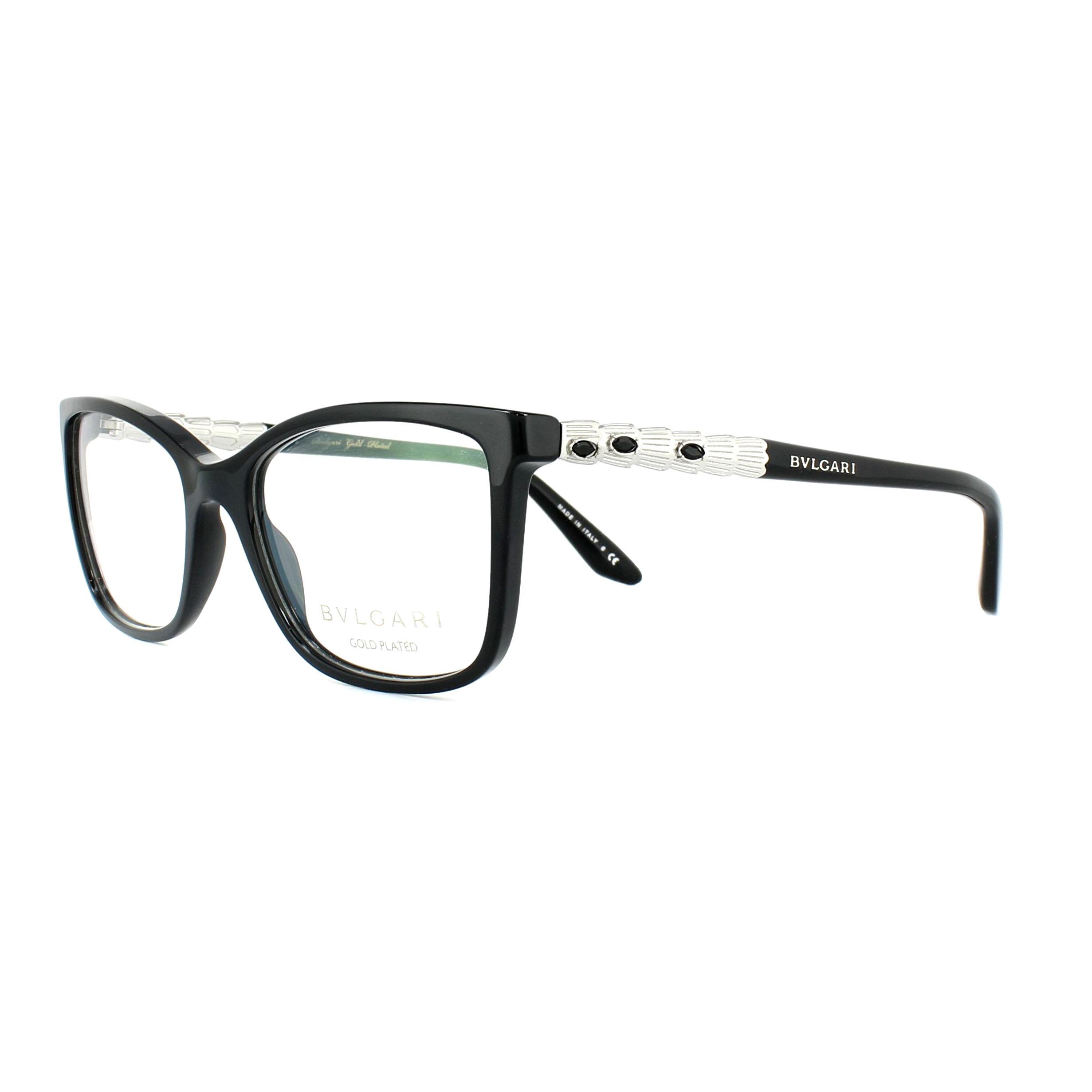 9e44de7f40ae Sentinel Bvlgari Glasses Frames 4130KB 5190 Black Silver 52mm Womens