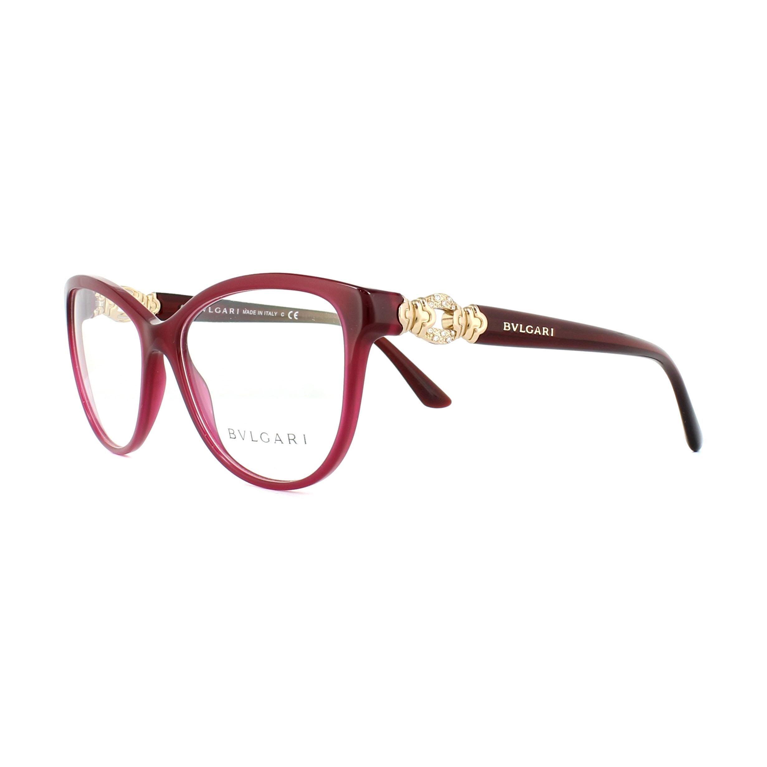 Bvlgari Glasses Frames 4132B 5333 Red 55mm Womens 8053672639780 | eBay