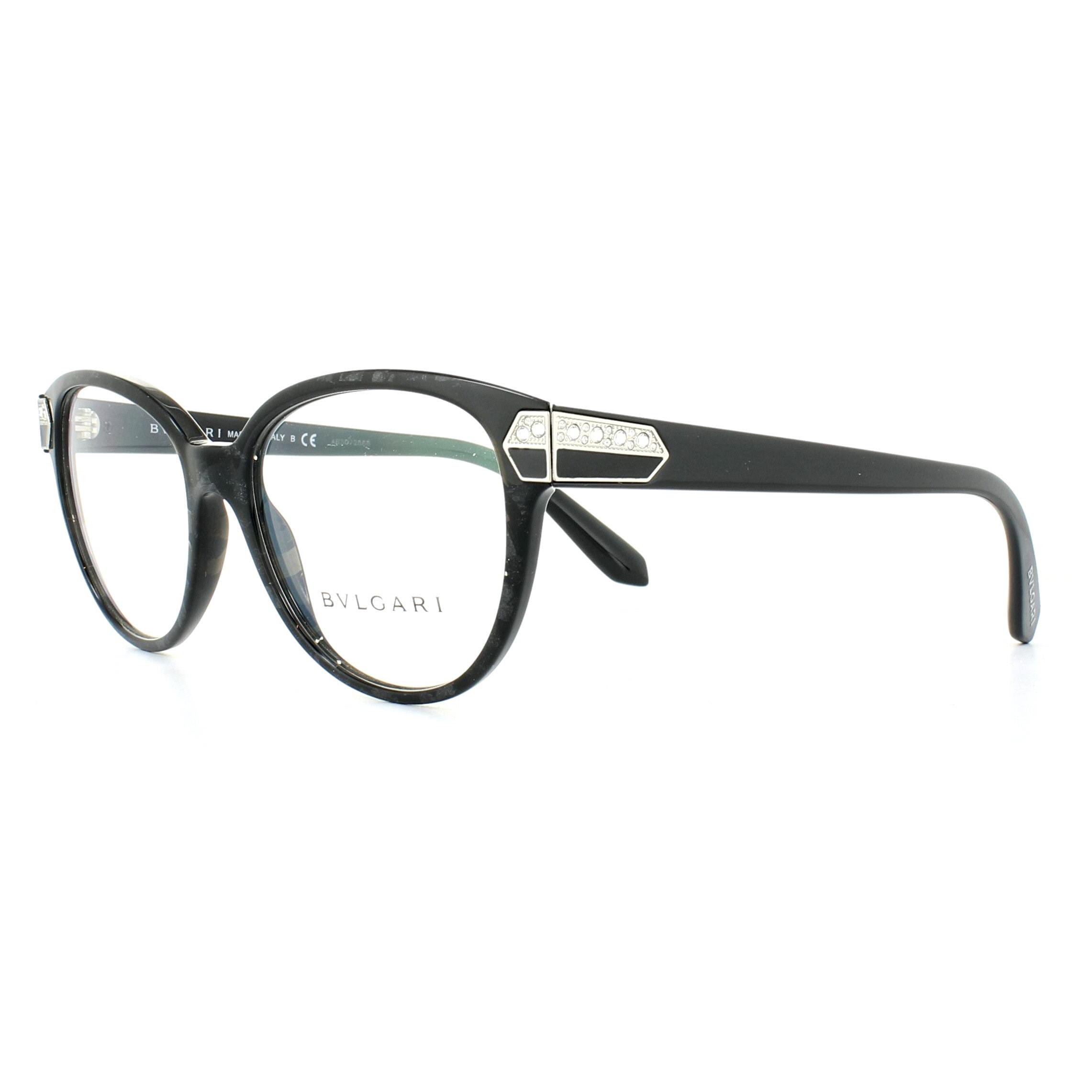 Bvlgari Glasses Frames 4136B 5412 Bvlgari Black (Mamba) 54mm Womens ...