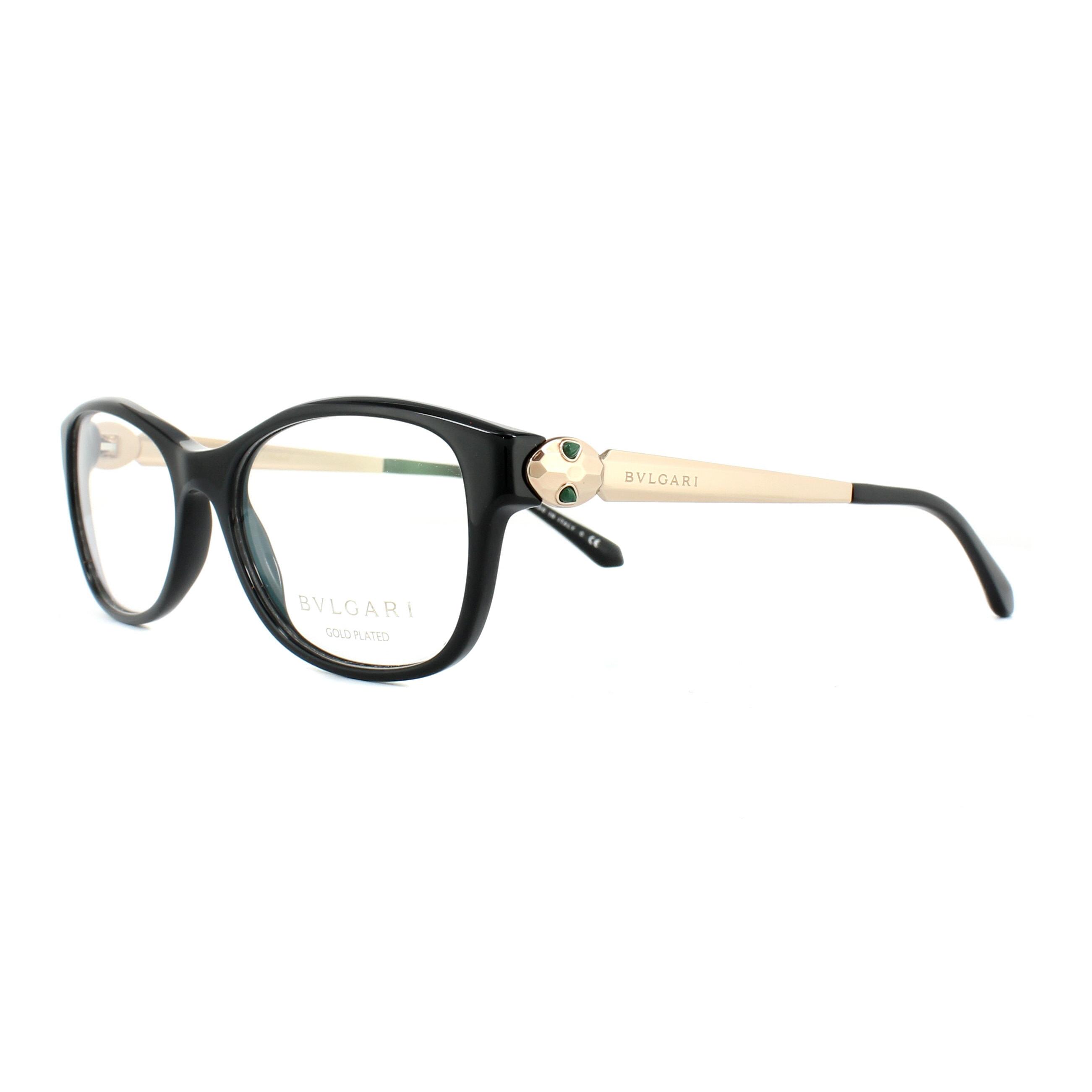 7c4b8b26a5bd Bvlgari Glasses Frames 4138KB 5195 Black 54mm Womens 8053672651867 ...