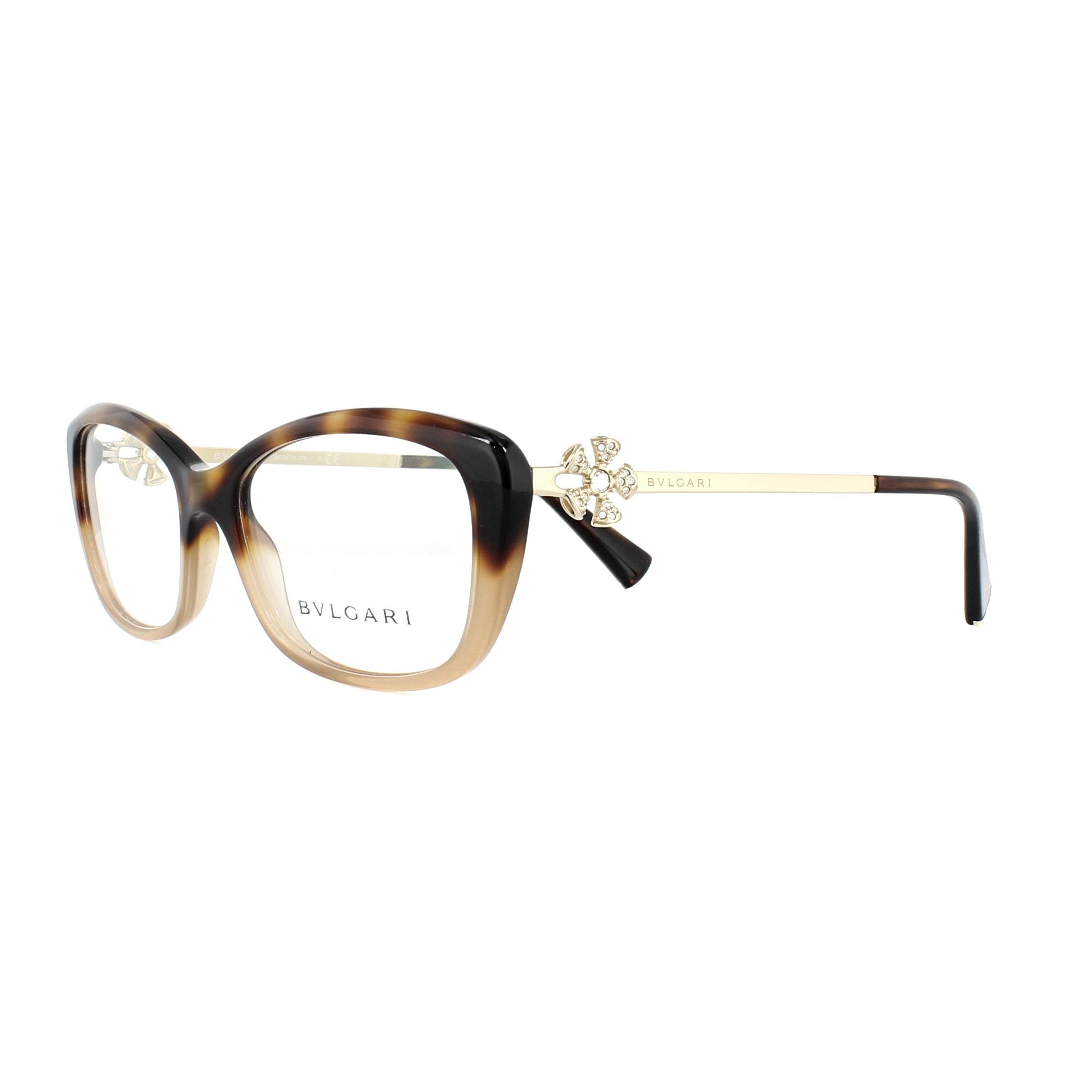 Bvlgari Glasses Frames 4145B 5362 Havana 53mm Womens 8053672766462 ...