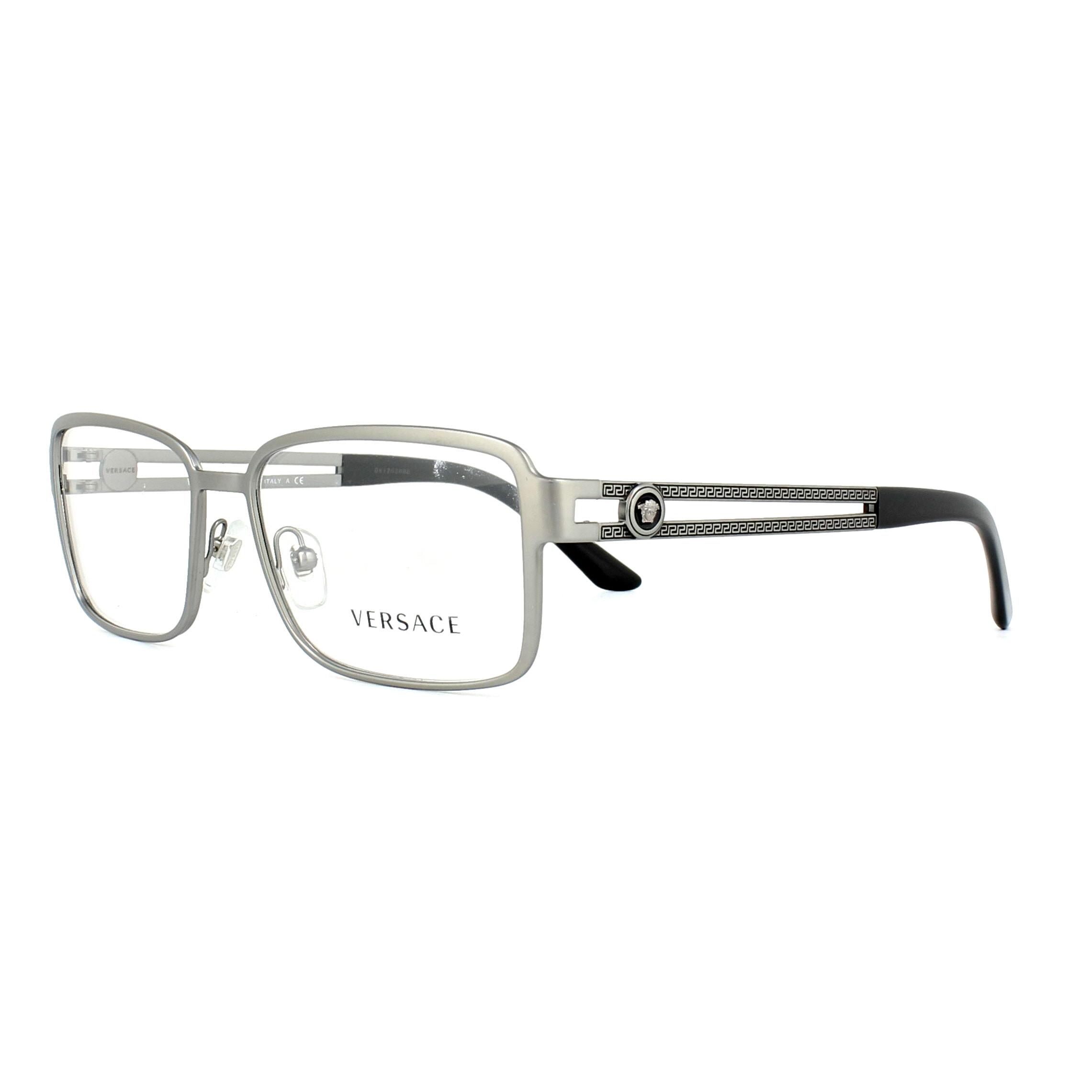 Versace Glasses Frames 1236 1351 Matte Gunmetal 55mm Mens ...