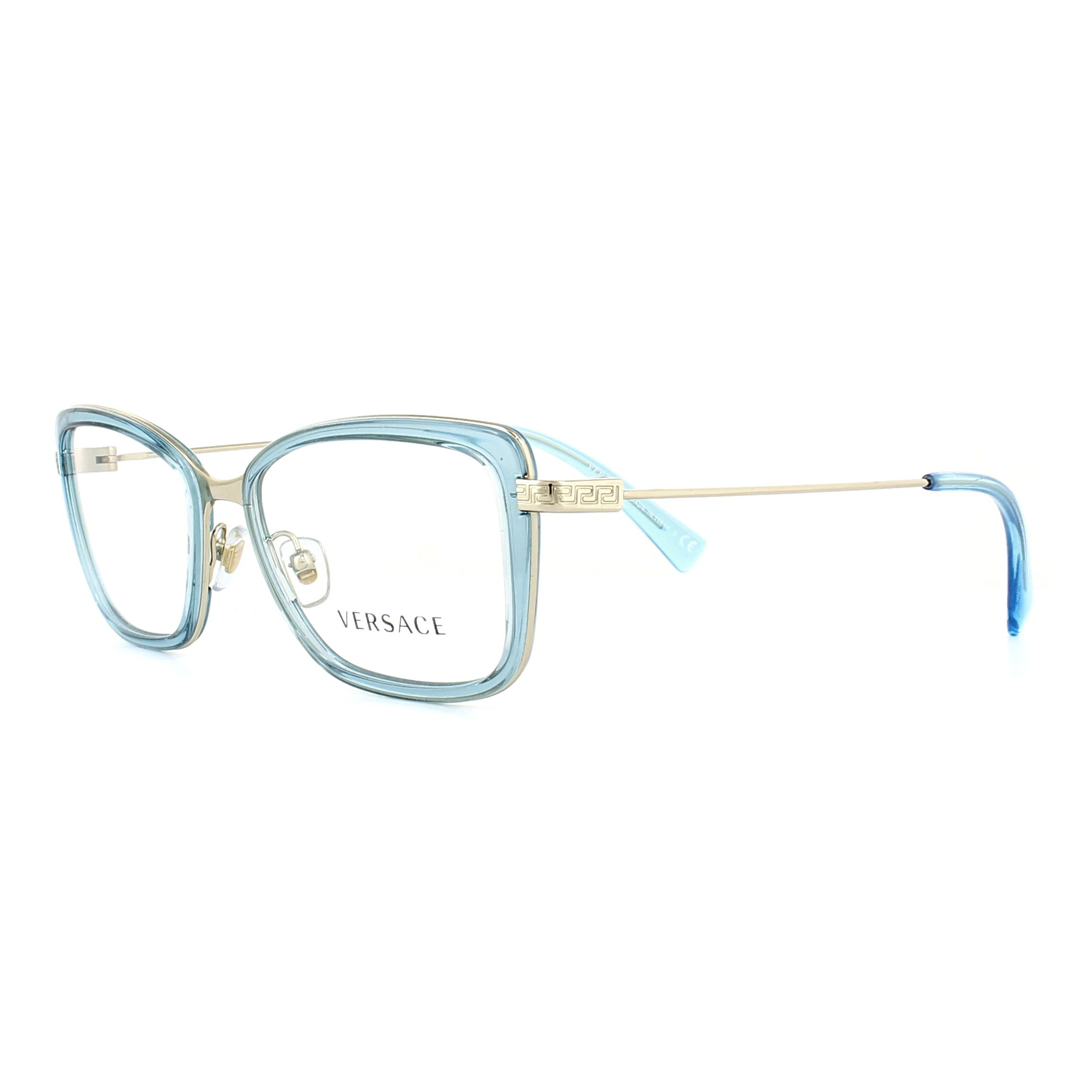 8ce7dbb75425f Sentinel Versace Glasses Frames 1243 1403 Green and Pale Gold 52mm Womens