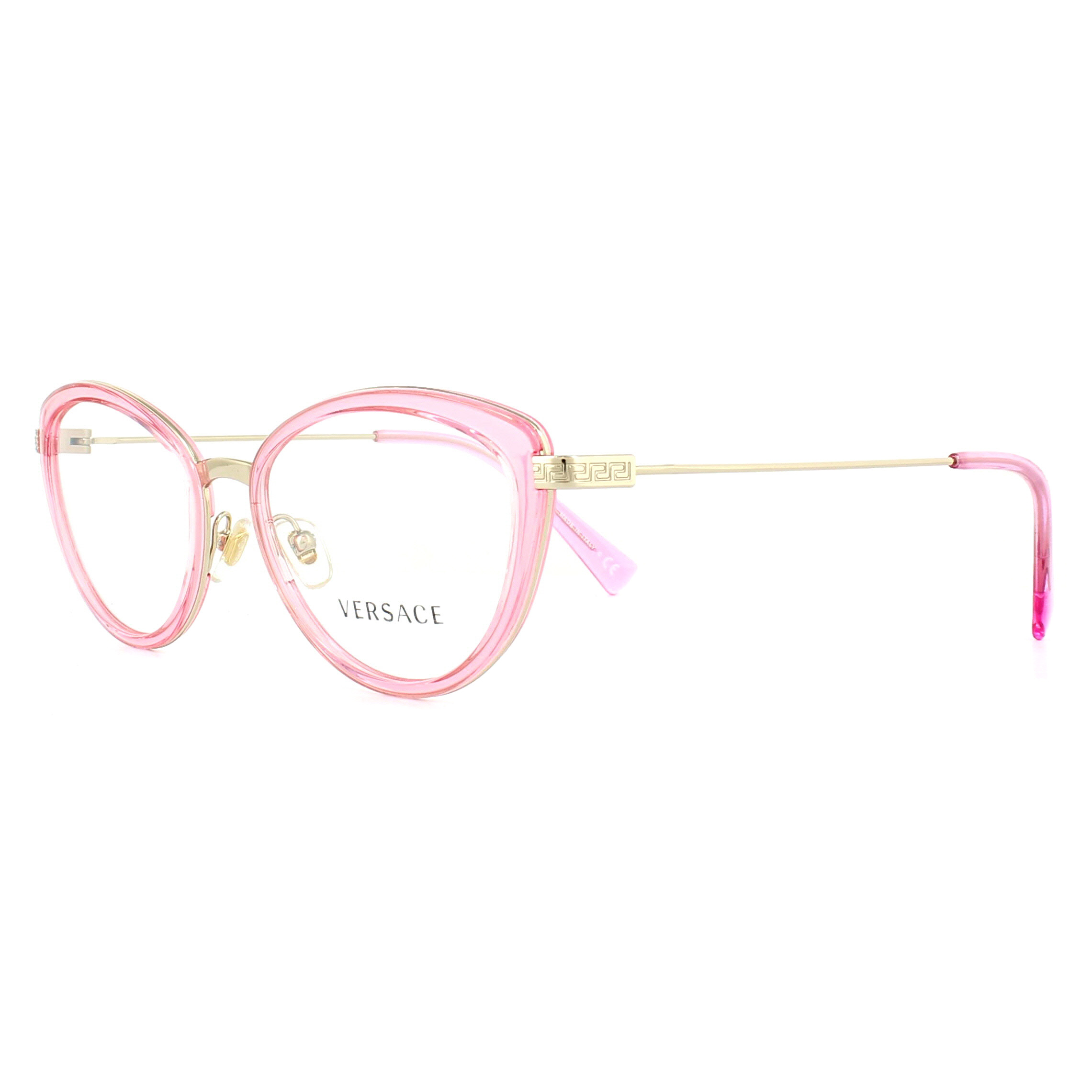 2ae3972ebba Versace Gl Frames 1244 1404 Pink Transpa And Pale Gold 53mm