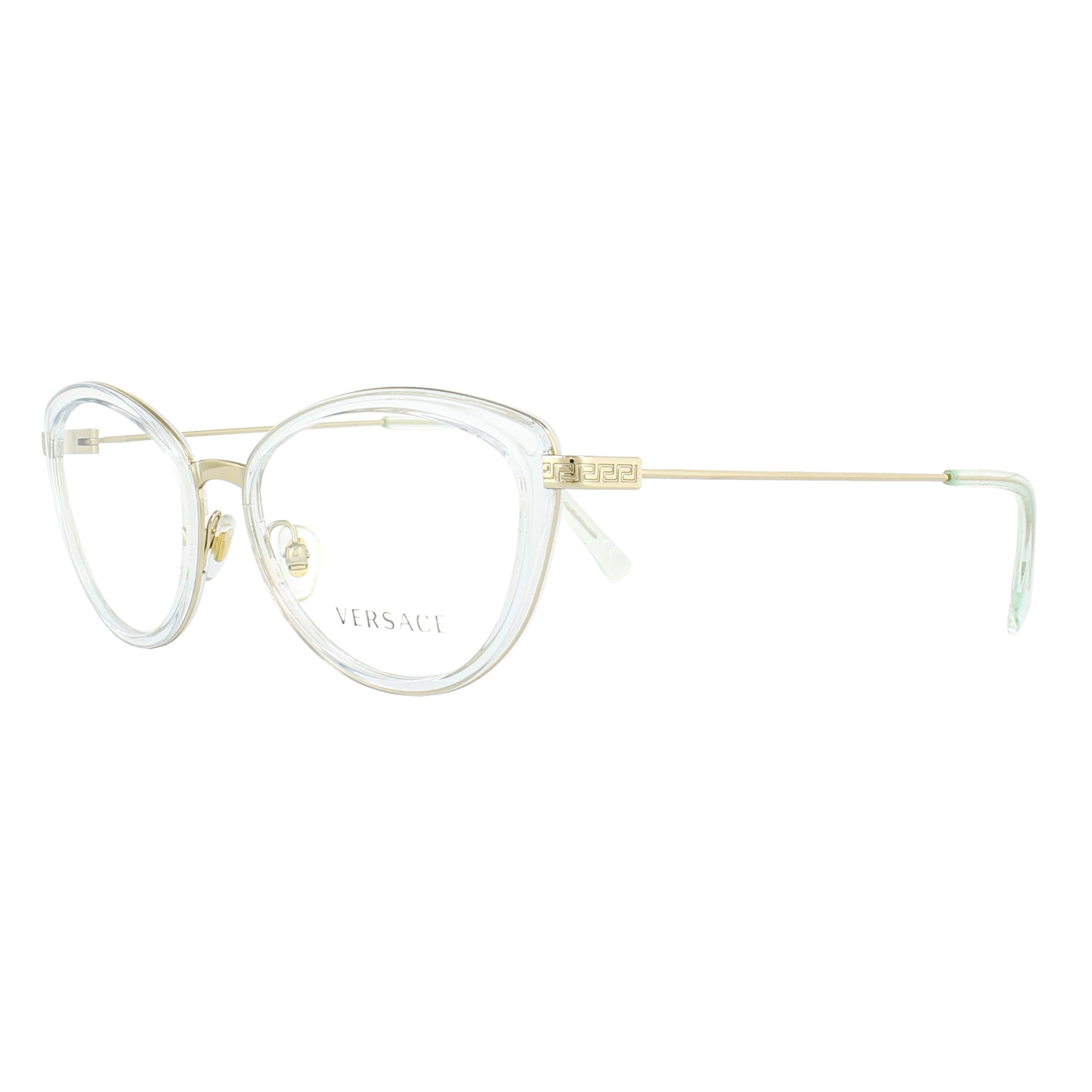 5cfd1da2a3 Details about Versace Glasses Frames 1244 1405 Light Blue Transparent    Pale Gold 53mm Womens