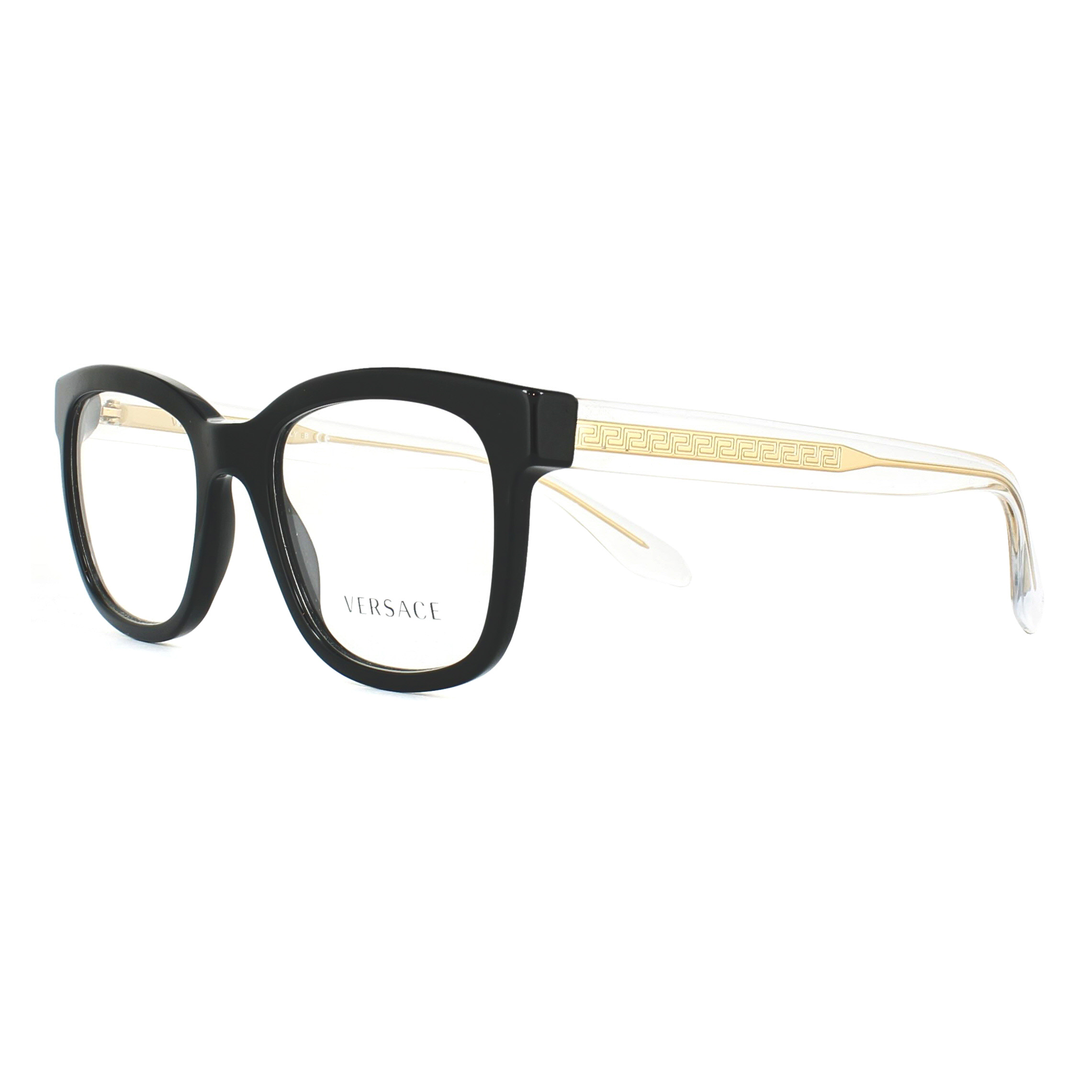 d6af96e3821 Versace Glasses Frames 3239 GB1 Black 52mm Womens 8053672644425