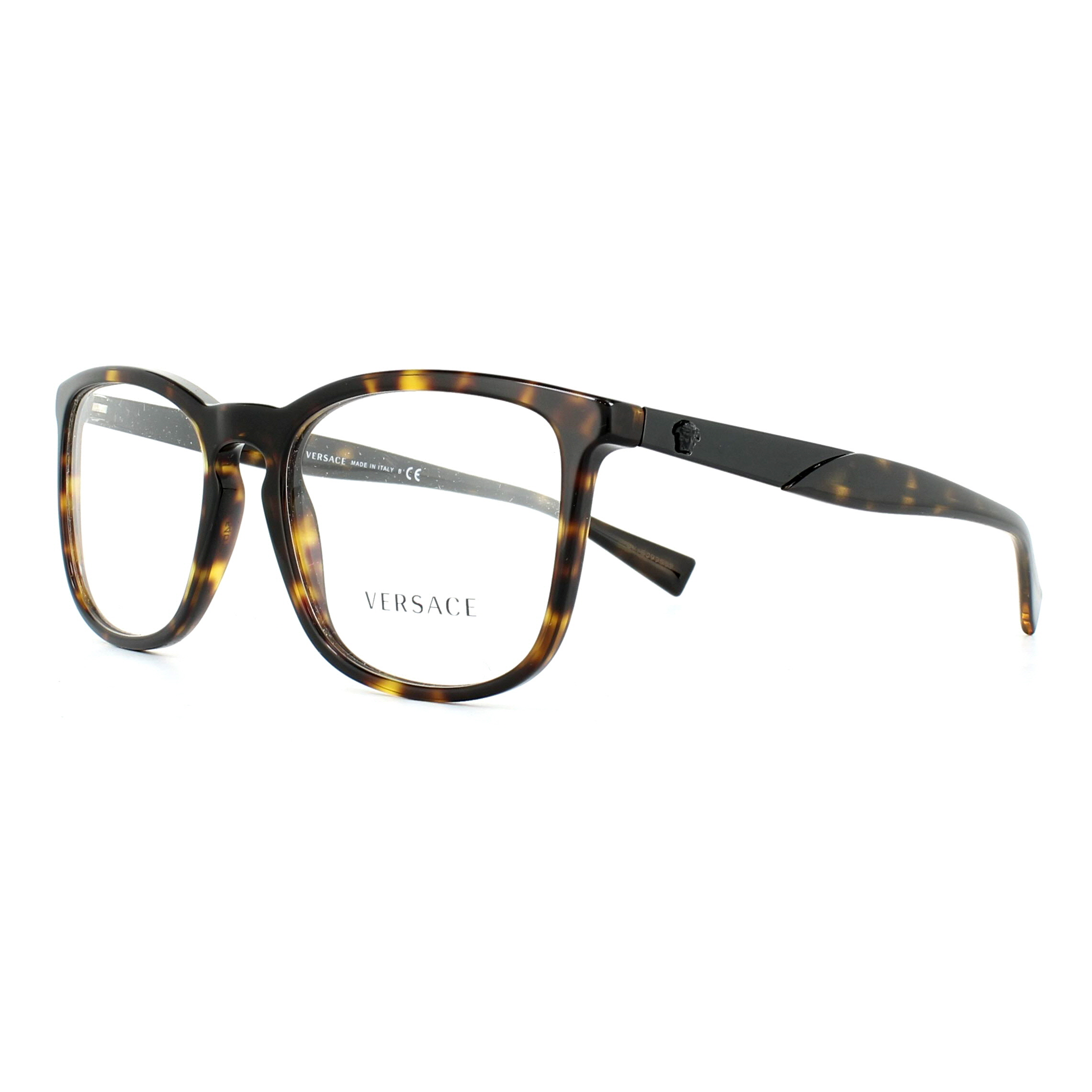 Versace Glasses Frames 3252 108 Dark Havana 52mm Mens Womens ...