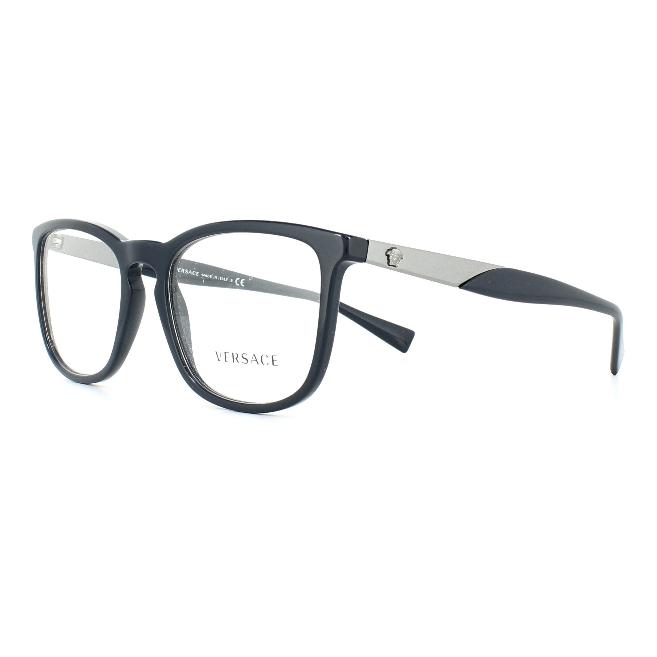 eb7743f61d Sentinel Versace Glasses Frames 3252 5230 Dark Blue 52mm Mens Womens