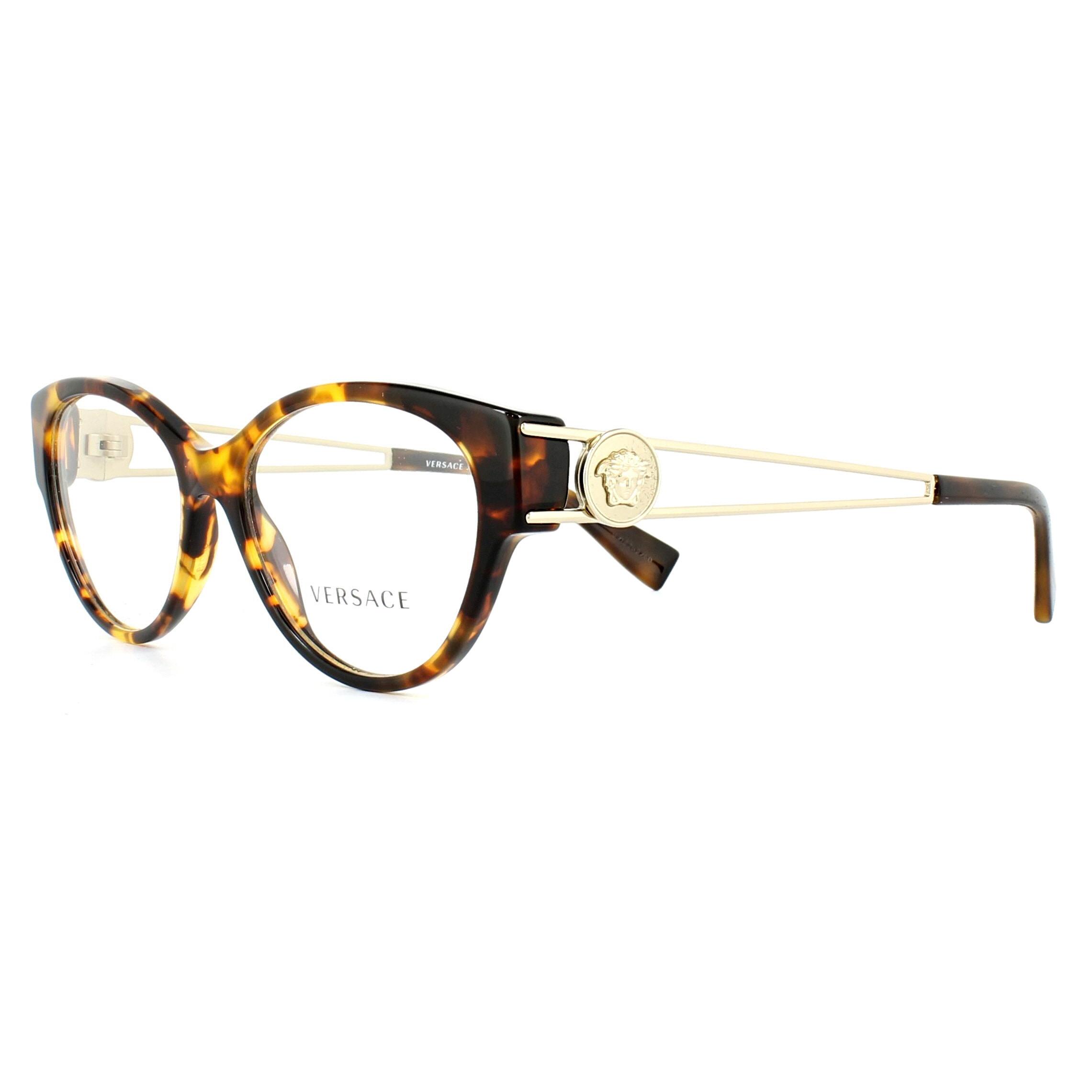 Versace Glasses Frames 3254 5148 Havana 52mm Womens 8053672799866   eBay