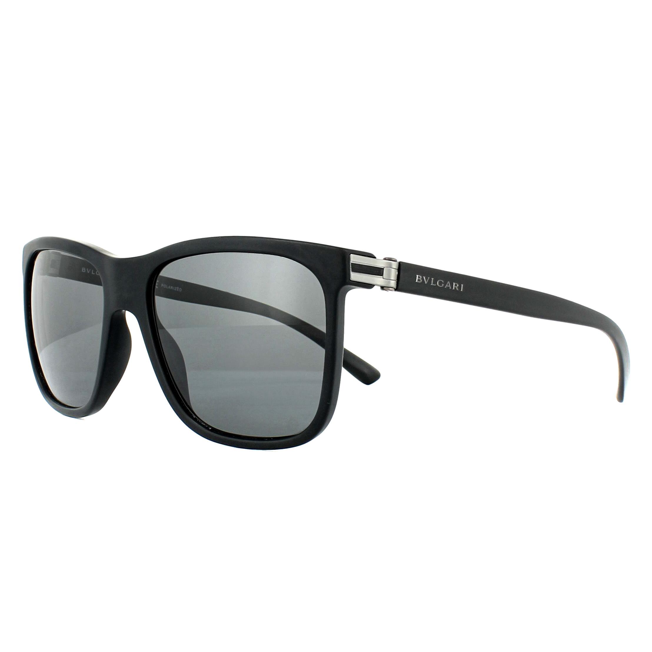 7e6c2271f1 Sentinel Bvlgari Sunglasses 7027 531381 Matte Black Grey Polarized