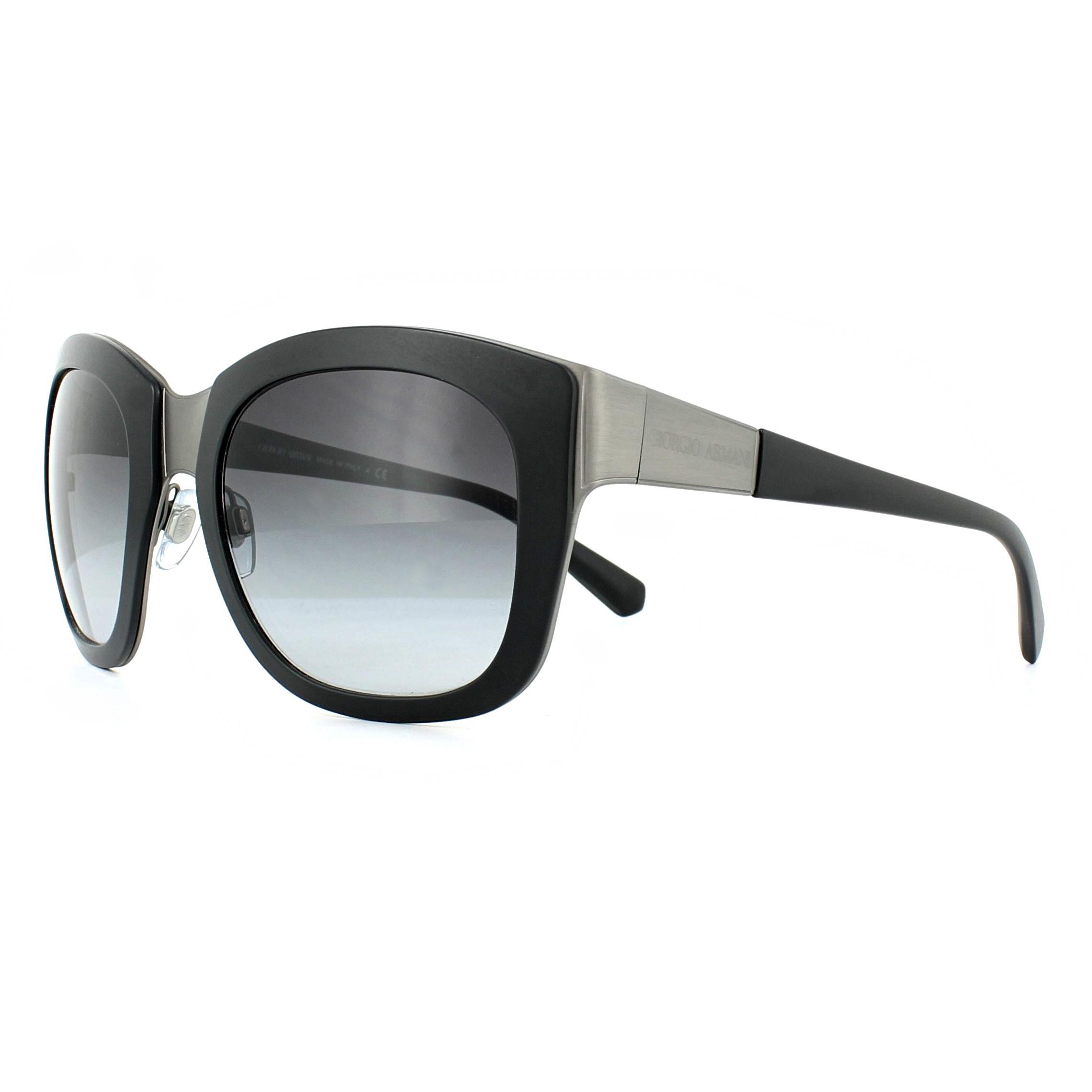 5a33b9a3da80 Sentinel Giorgio Armani Sunglasses AR6010 30328G Black Grey Gradient