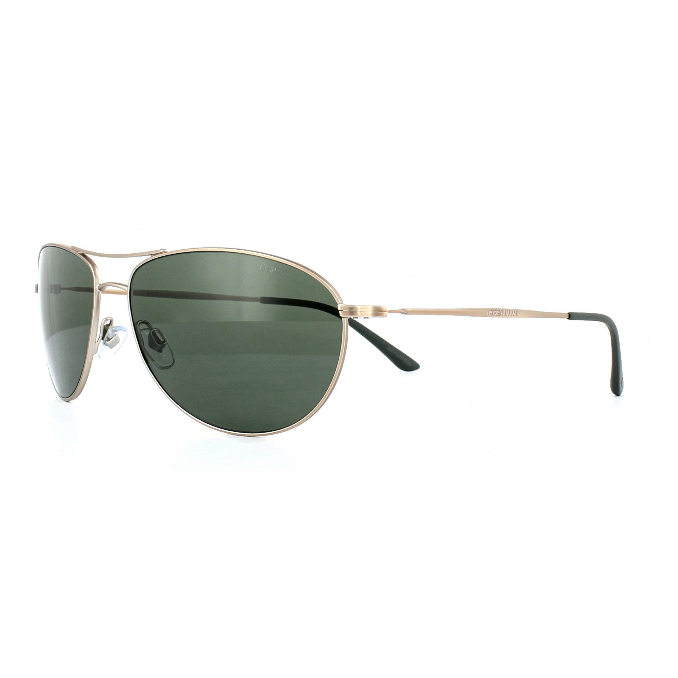 e876dbf2d701 Sentinel Giorgio Armani Sunglasses AR6024 300431 Matte Bronze Brown Crystal  Green