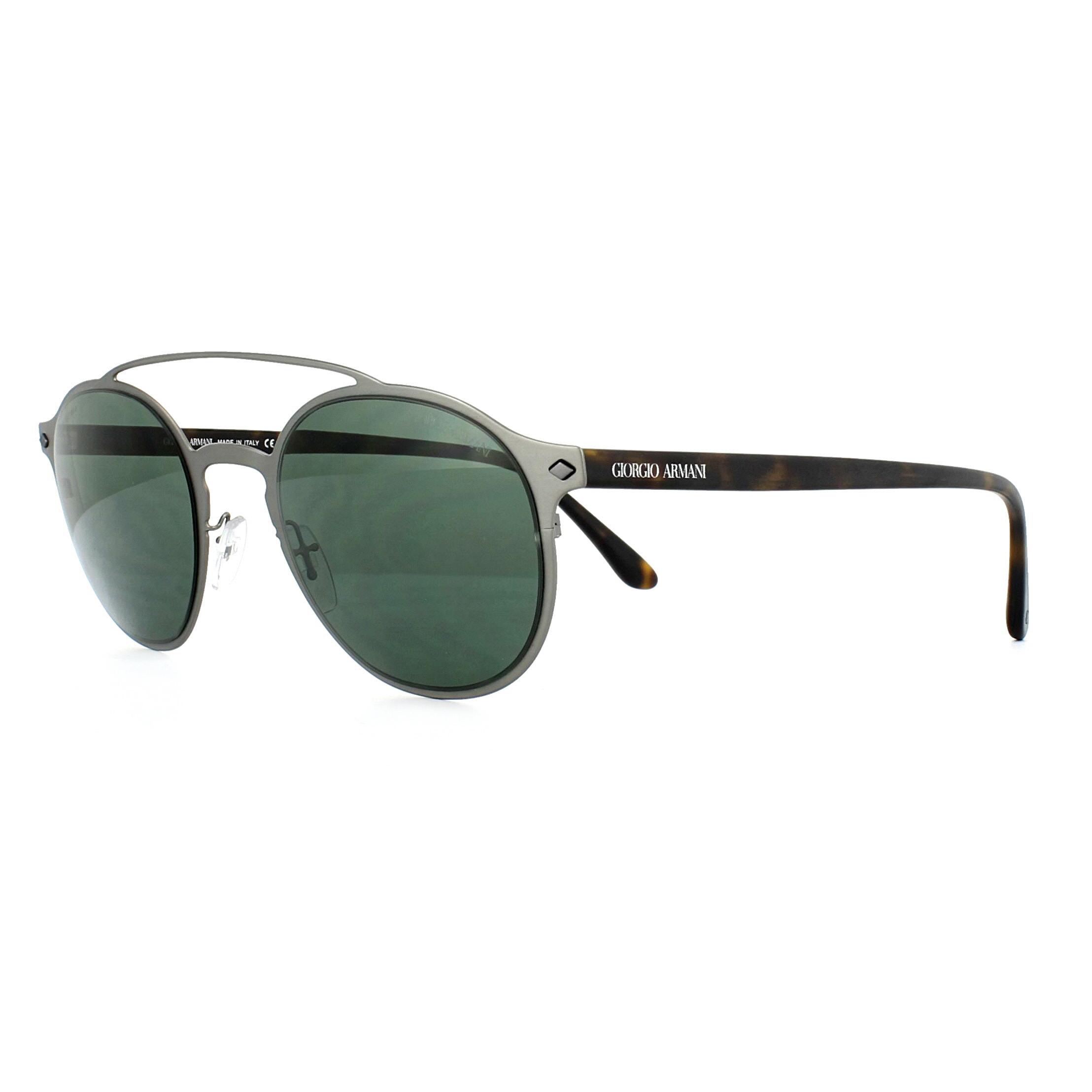 552e8d05acb Sentinel Giorgio Armani Sunglasses AR6041 303271 Matte Gunmetal Green