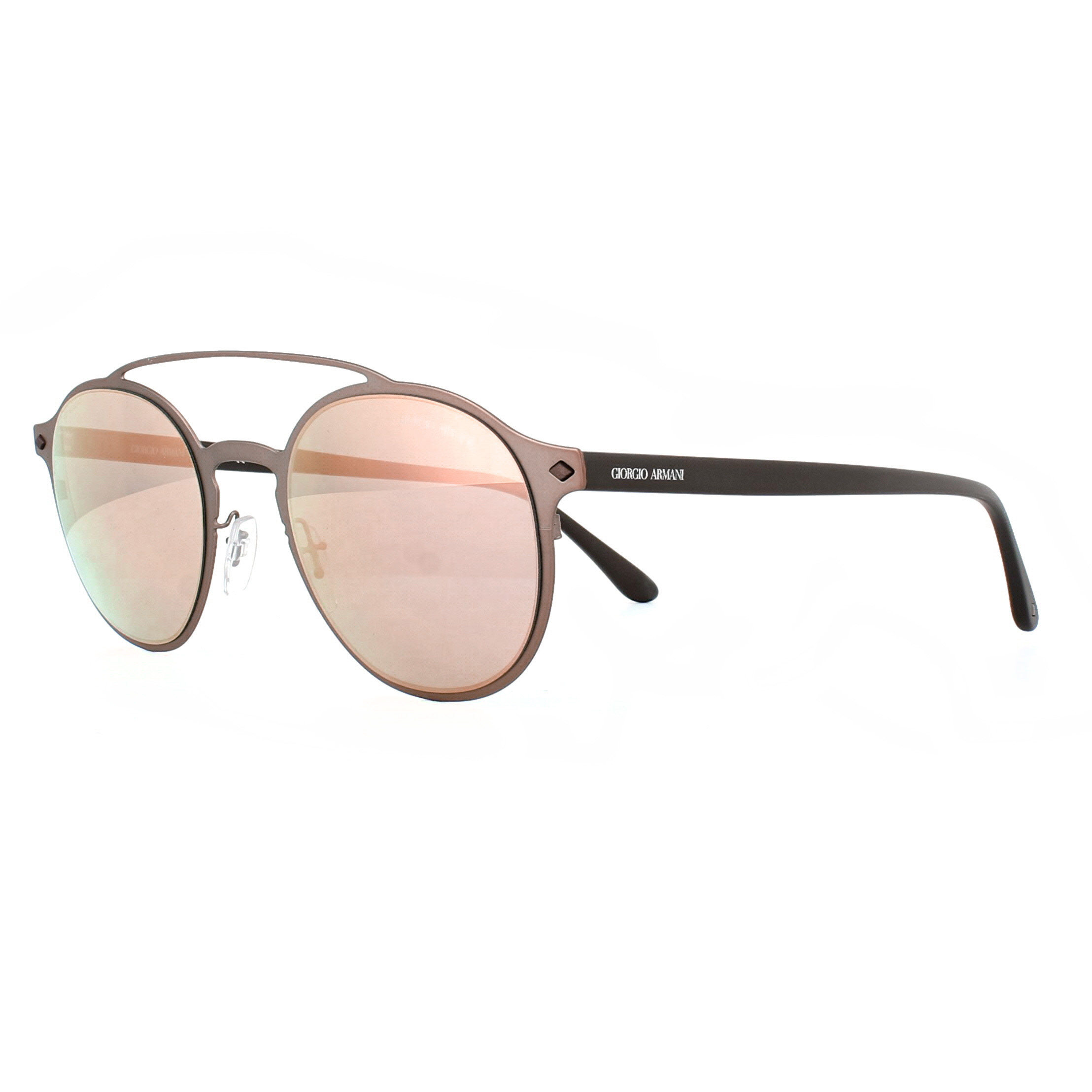 e7c5f58e4f27 CENTINELA Giorgio Armani gafas de sol AR6041 30064Z mate bronce gris rosa espejo  oro