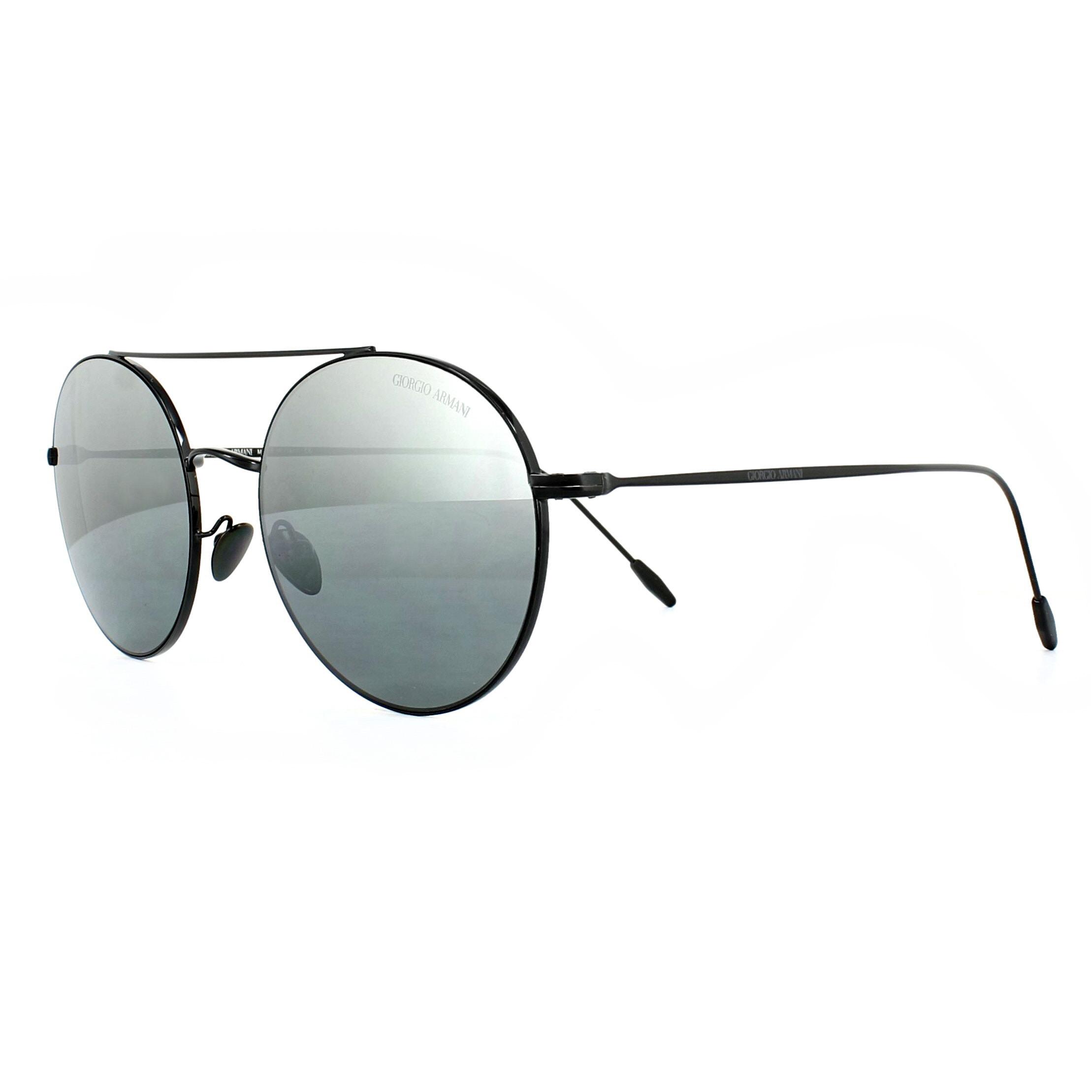 3aec79d0059f Sentinel Giorgio Armani Sunglasses AR6050 301488 Black Grey Silver Mirror  Gradient